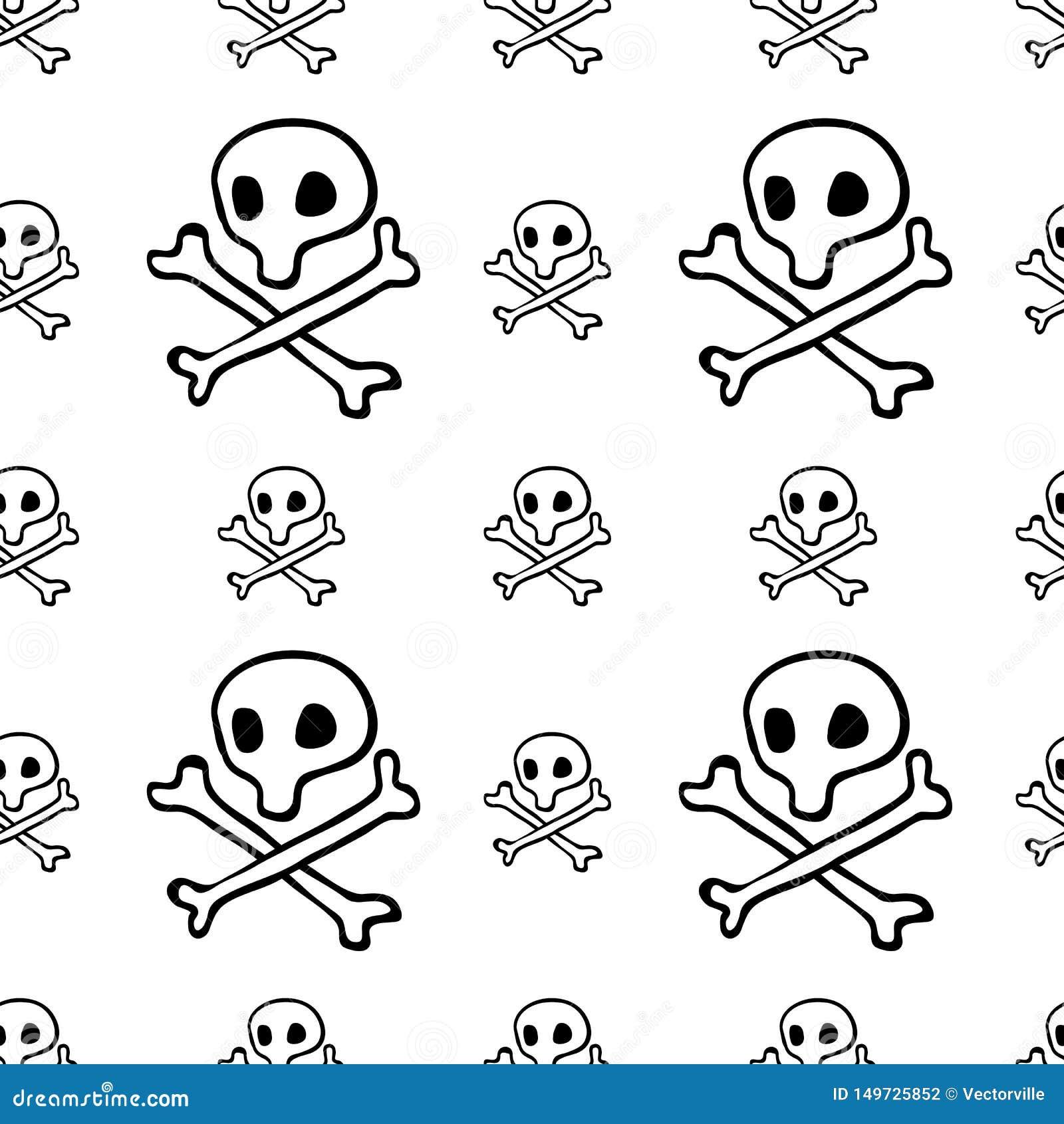 Nielegalnie kopiować bezszwowego wzór, czerń kapitanu Roger flagi tła Byczą tapetę, powtarzalna śmieszna ręka malującą teksturę c