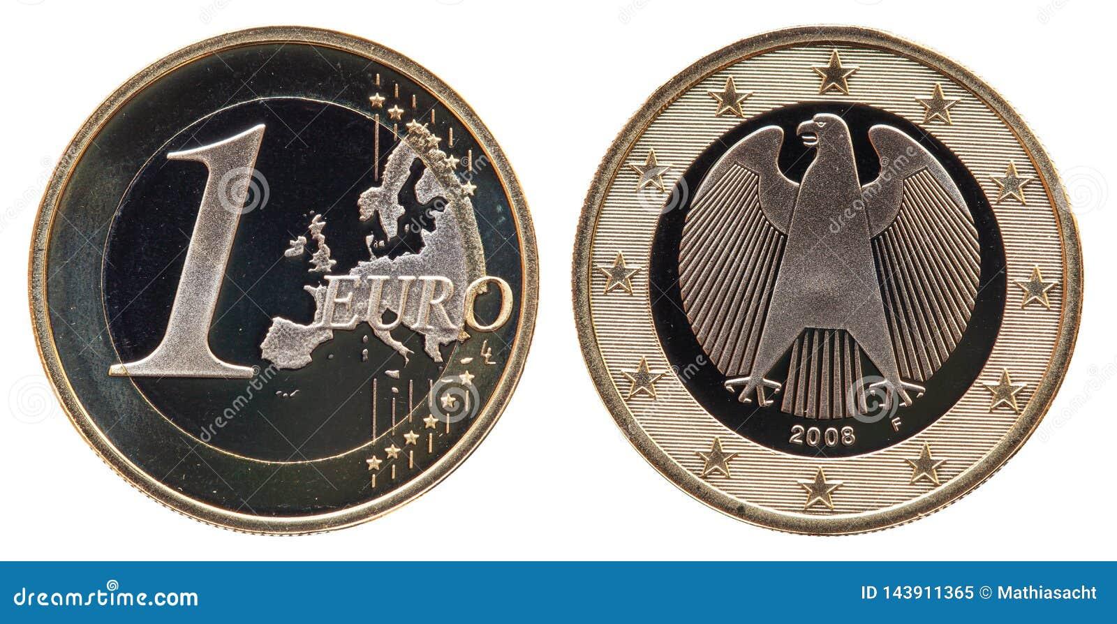 Niemcy monety 1 euro 2008
