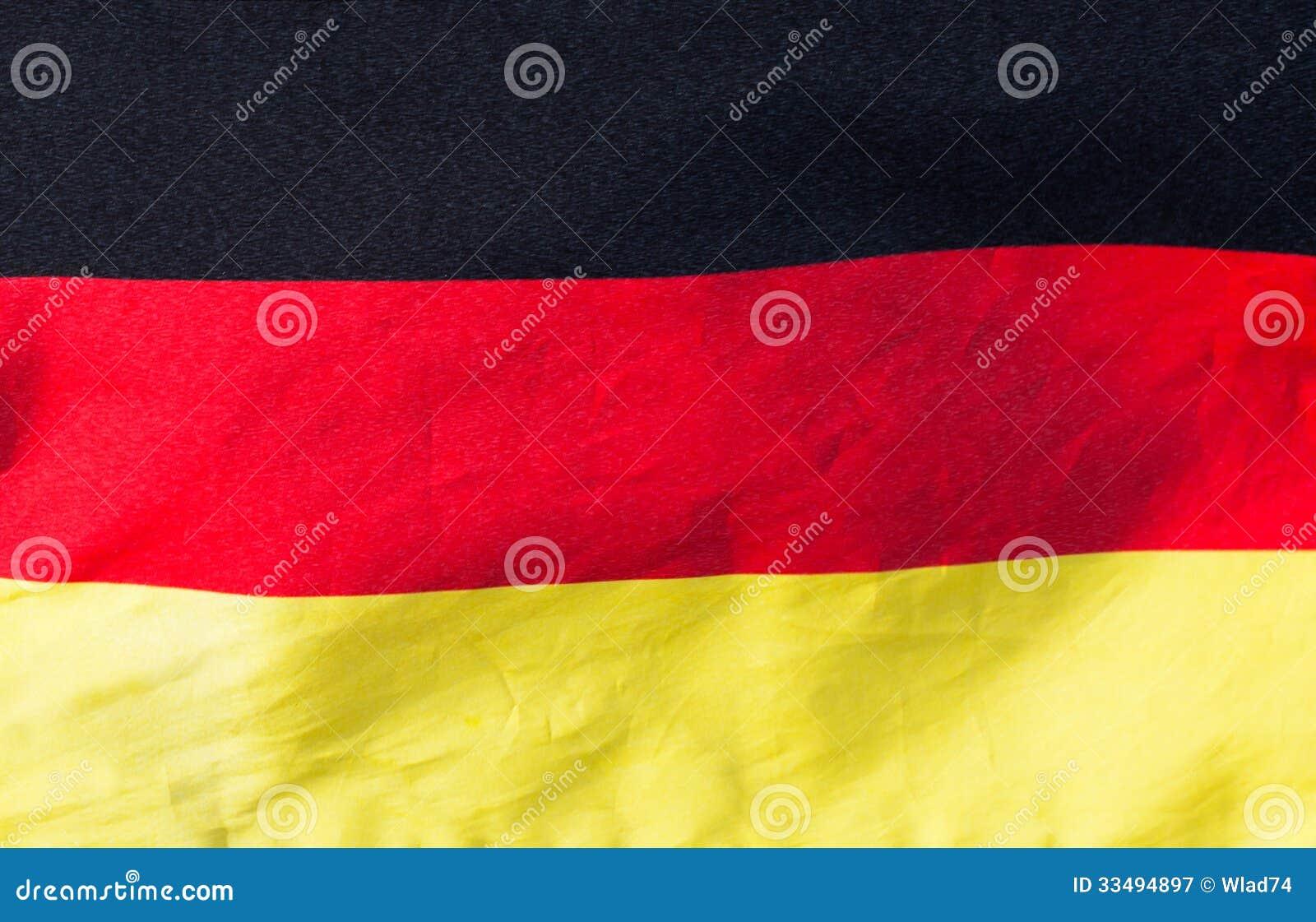 Niemiec flaga w wiatrowym zakończeniu