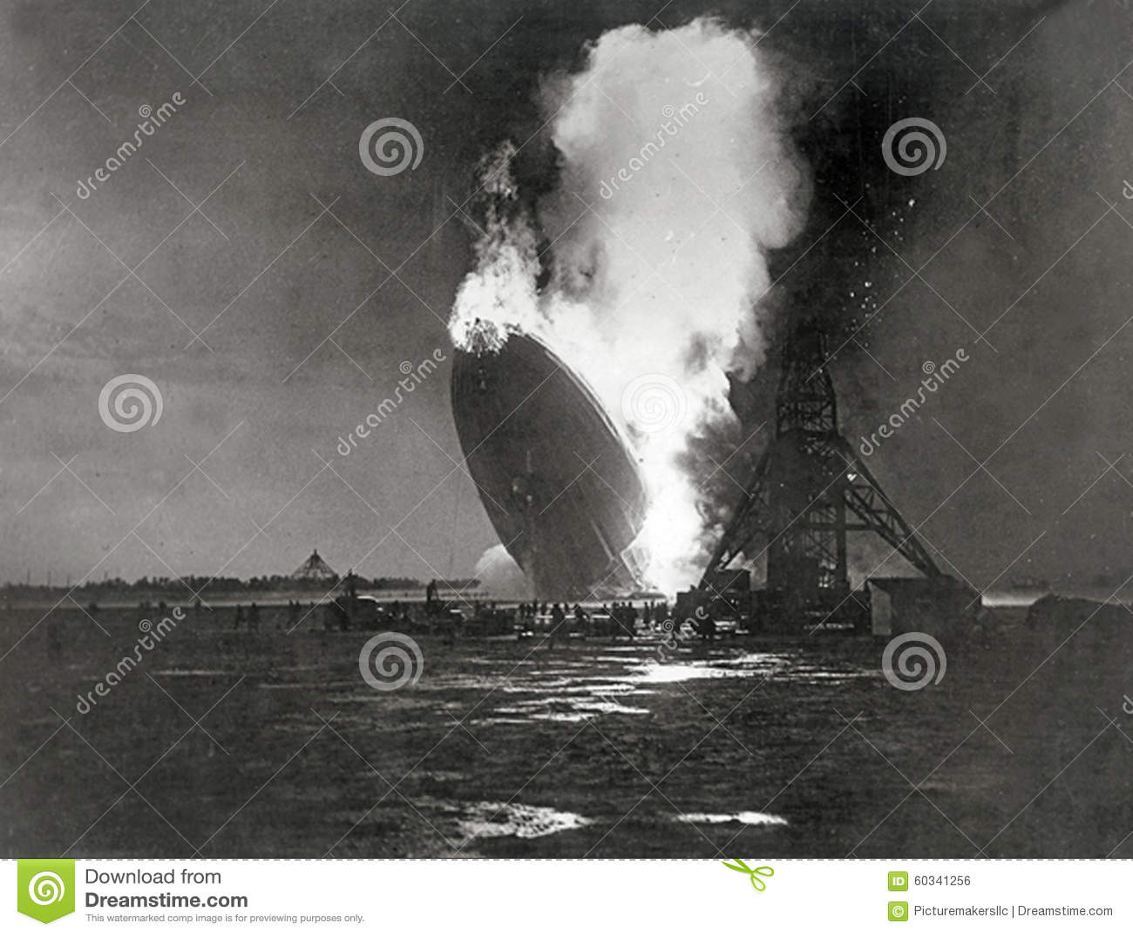 Niemiec Hindenburg sterowiec Wybucha