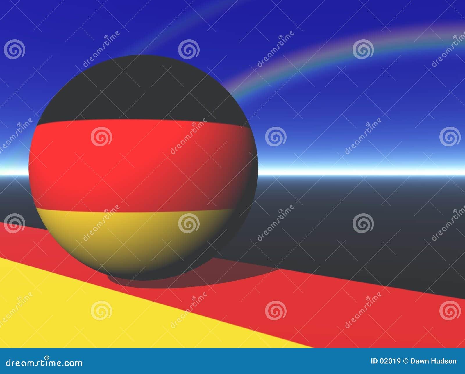 Niemiecka bandery kulę
