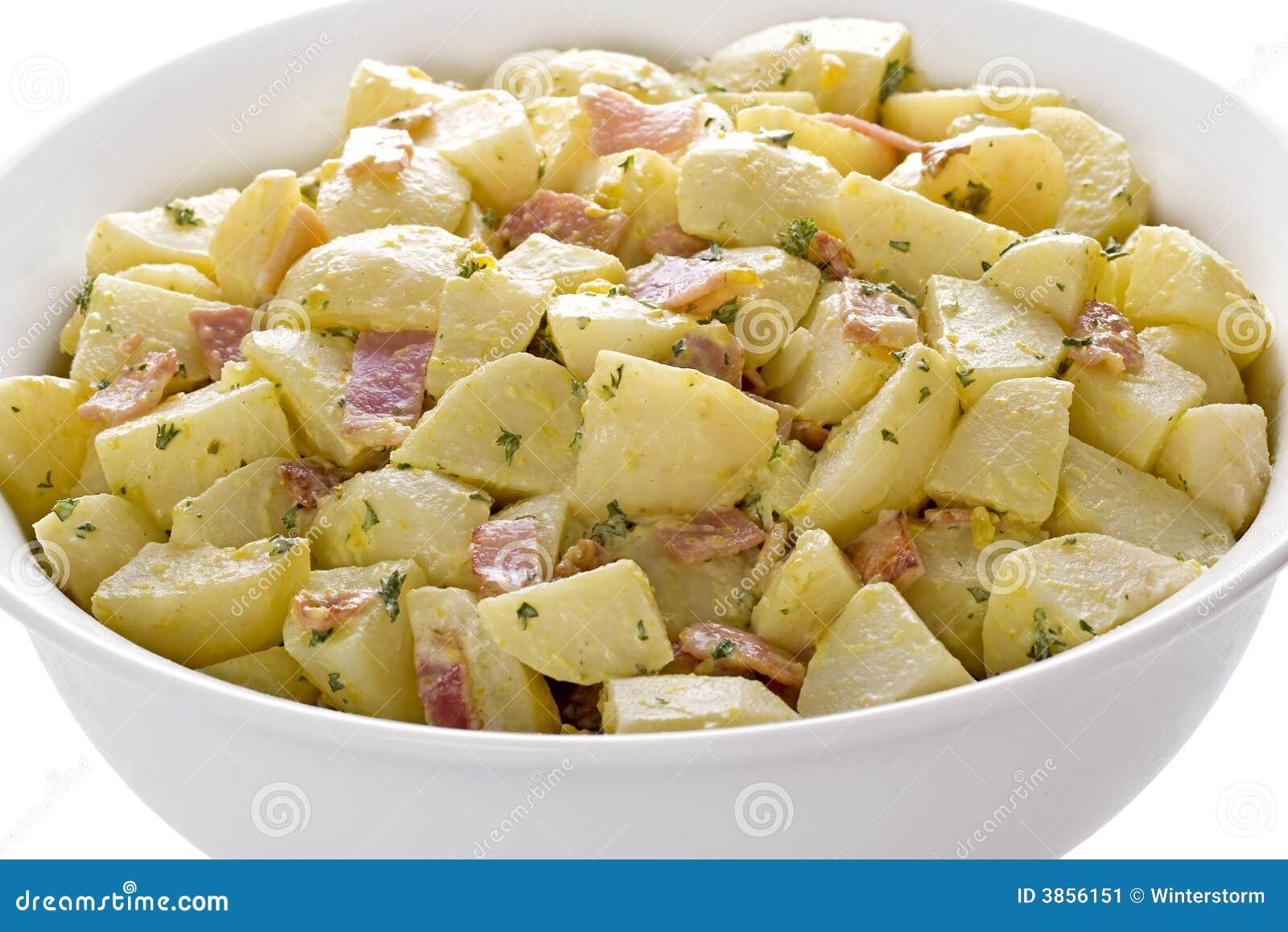 Niemiecka Salatka Ziemniaczana Obraz Stock Obraz Zlozonej Z Zalewy