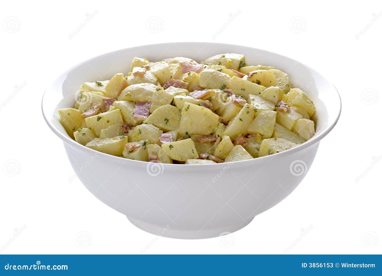 Niemiecka Salatka Ziemniaczana Obraz Stock Obraz Zlozonej Z