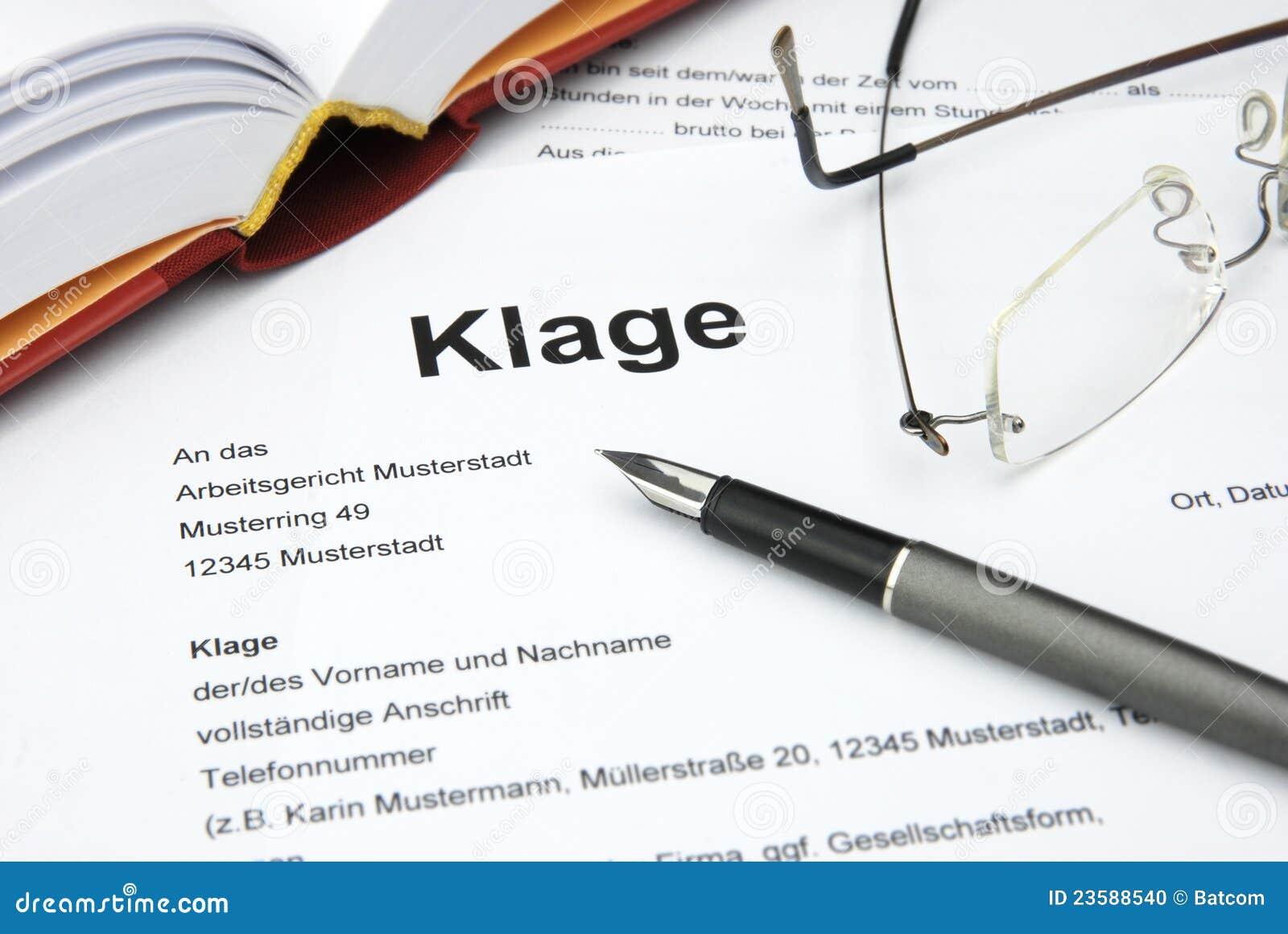 Niemiecka sprawa sądowa