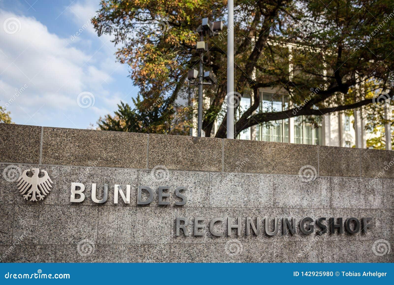 Niemiecki bundesrechnungshof w Bonn Germany