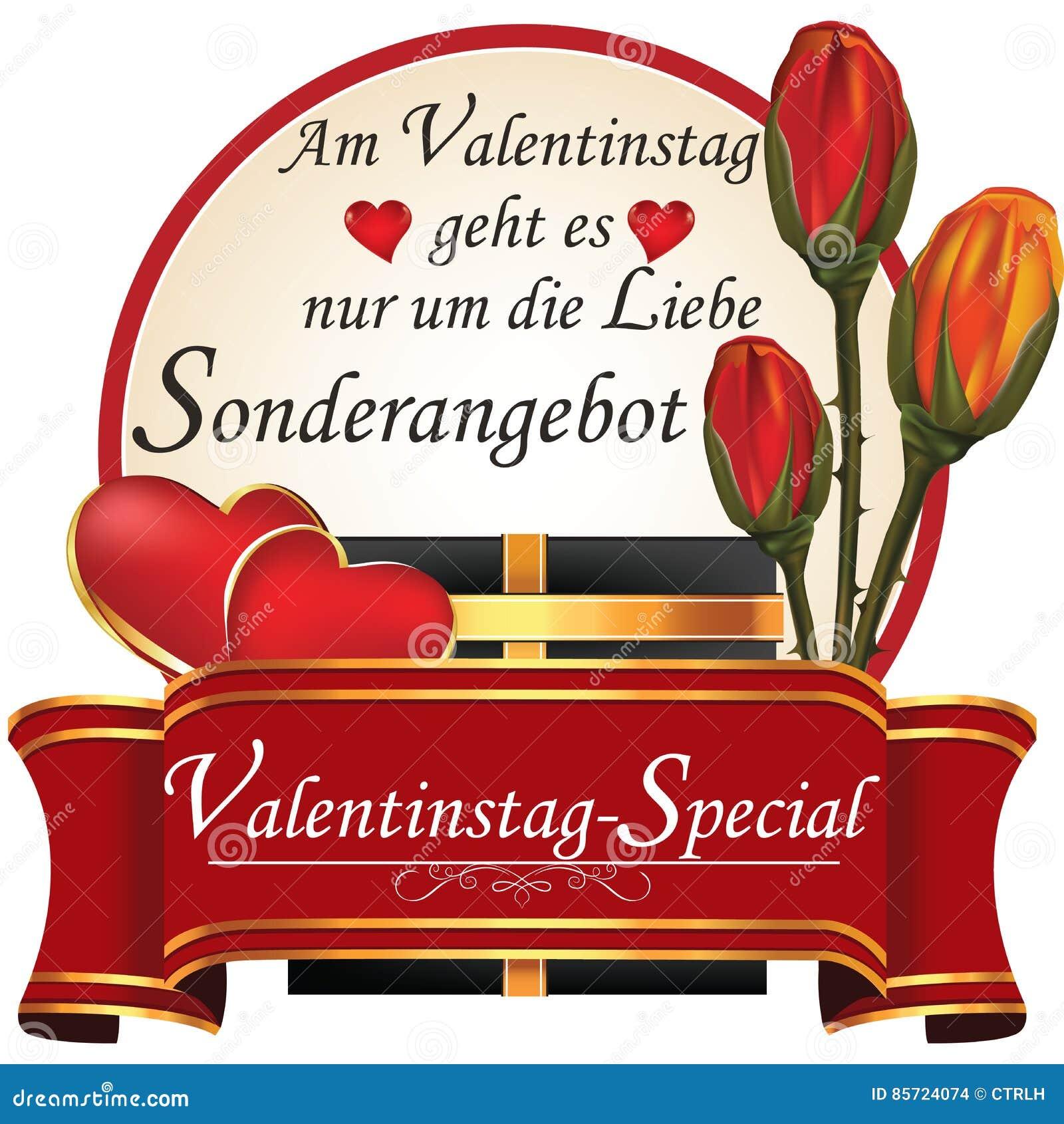 Niemiecki Walentynki S Dnia Wjazd Ilustracja Wektor Ilustracja