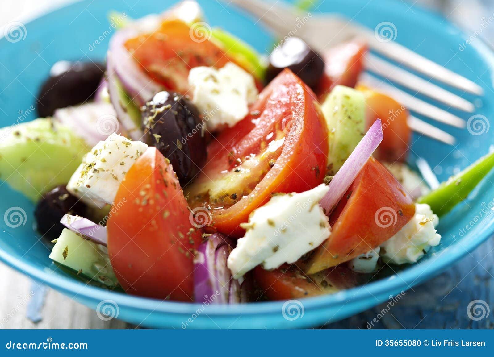 Nieociosana grecka sałatka