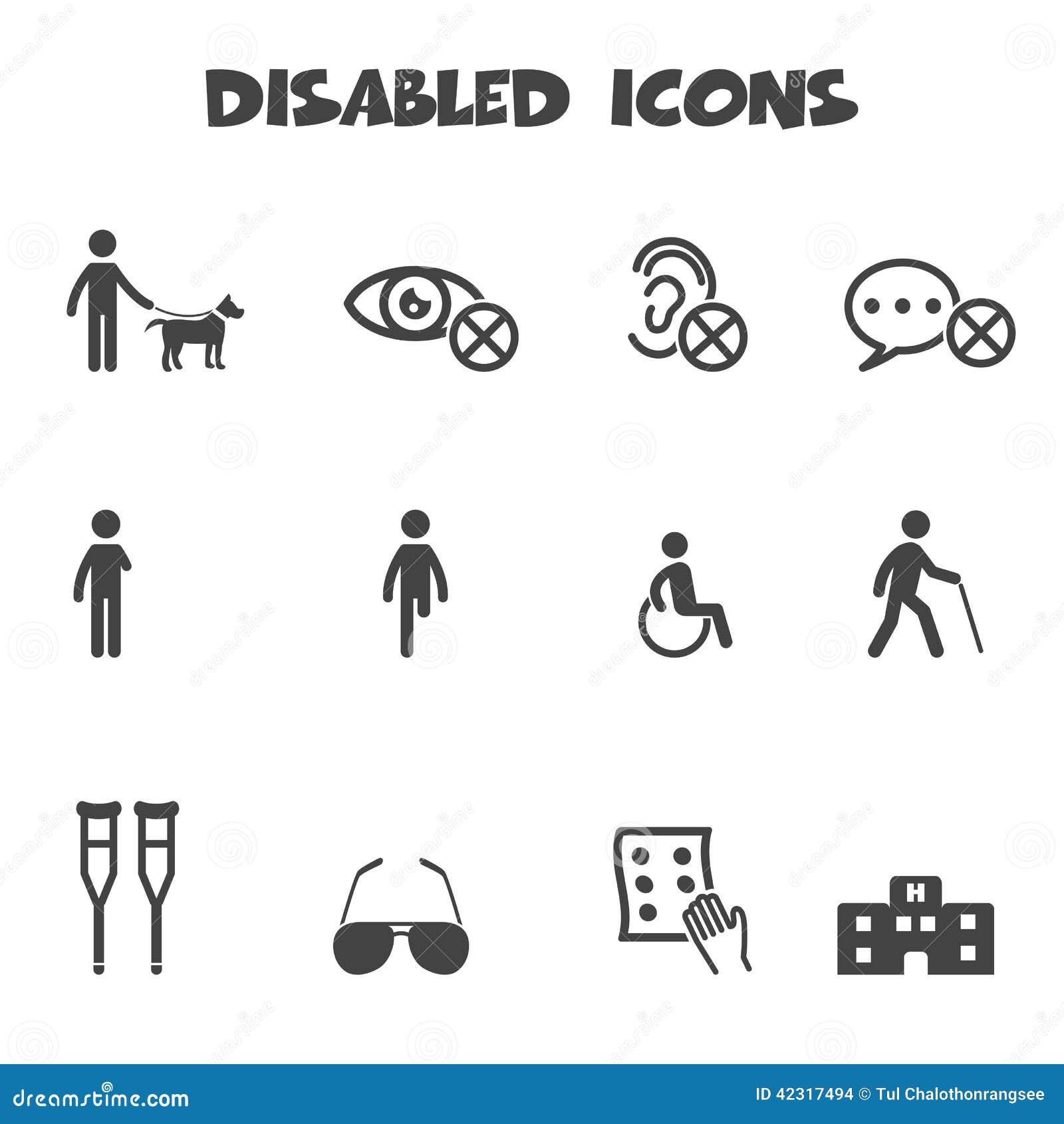 Niepełnosprawne ikony