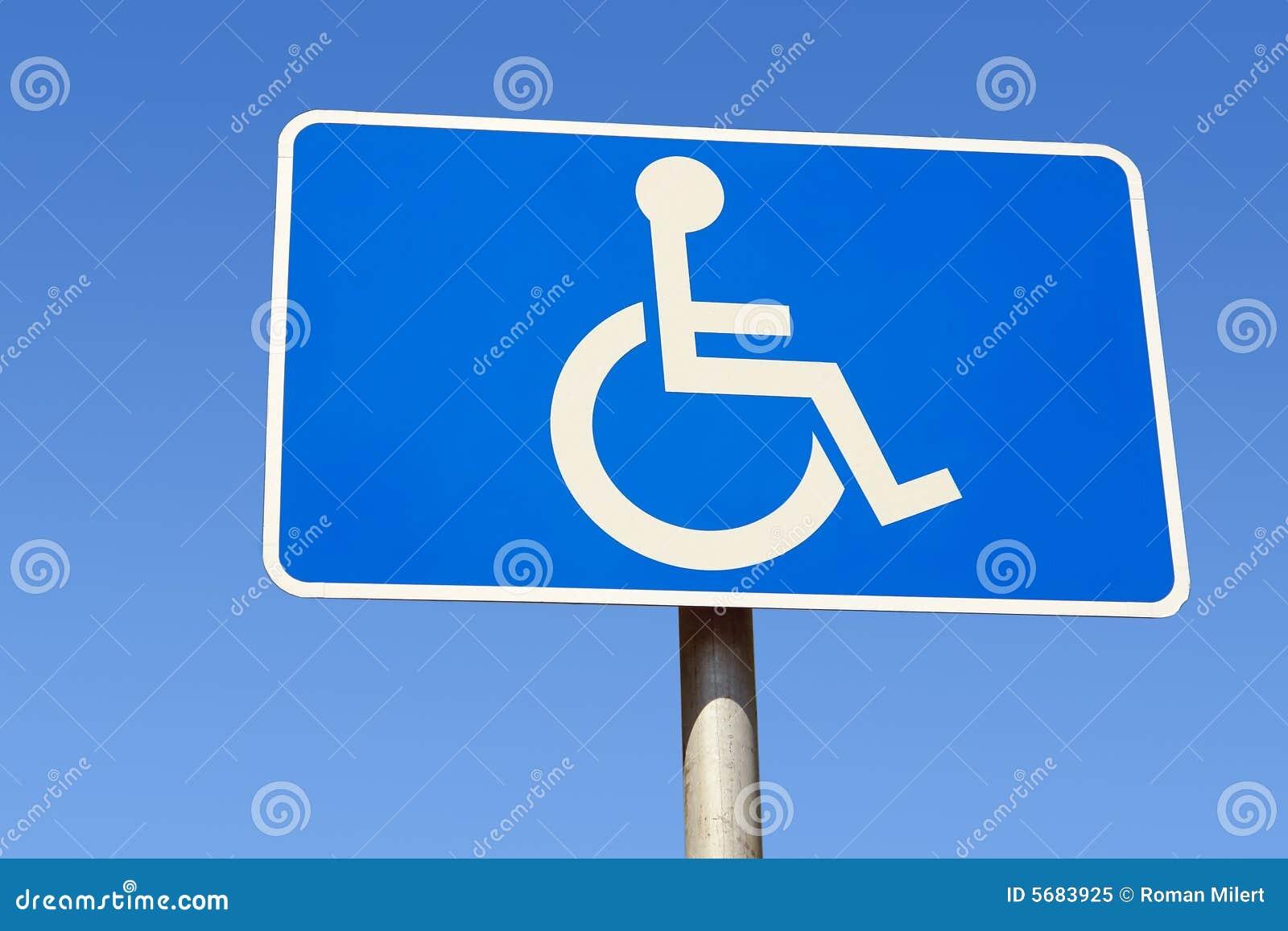 Niepełnosprawni miejsca parkingowe znak