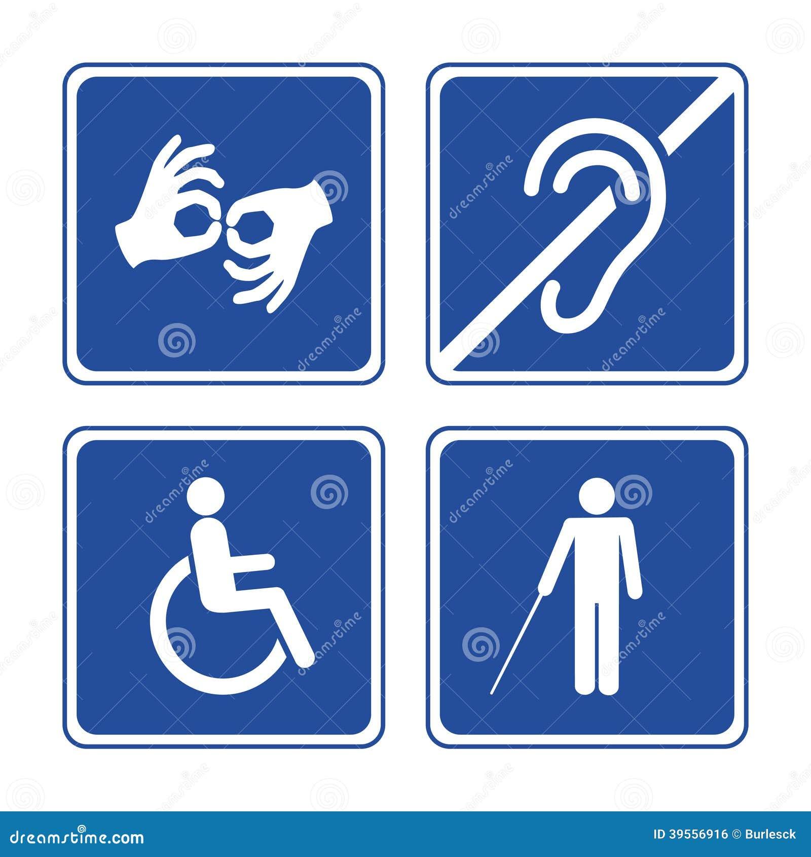 Niepełnosprawni znaki