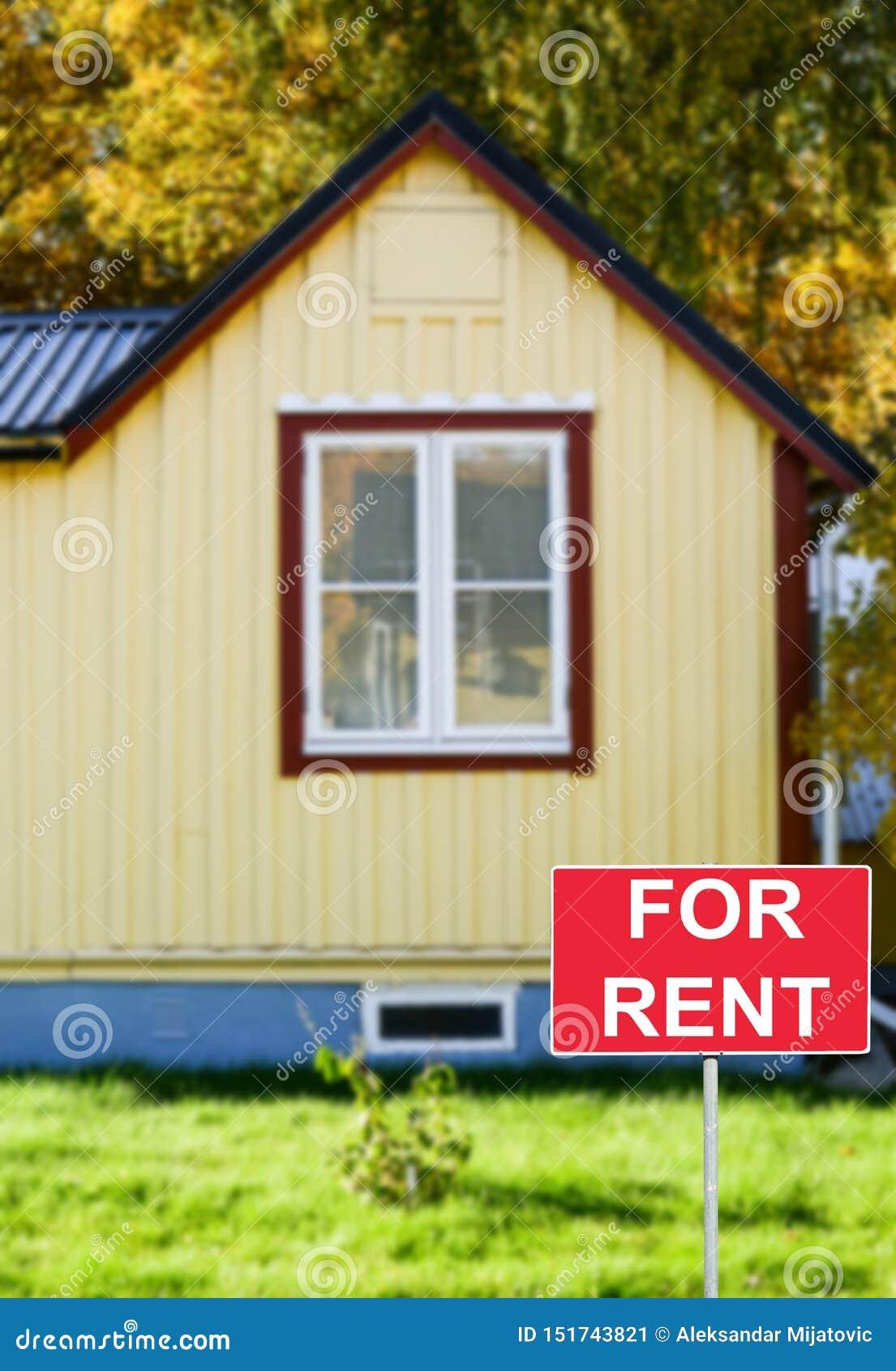 Nieruchomości pojęcie - Domowy czynsz lub arenda