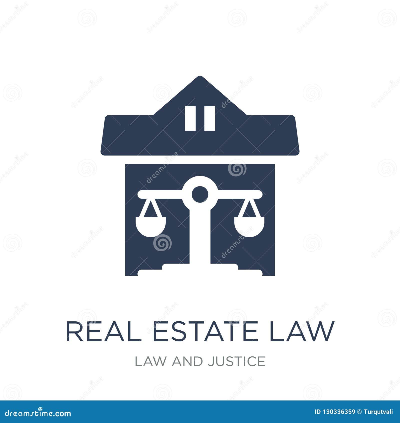 Nieruchomości prawa ikona Modna płaska wektorowa nieruchomości prawa ikona dalej