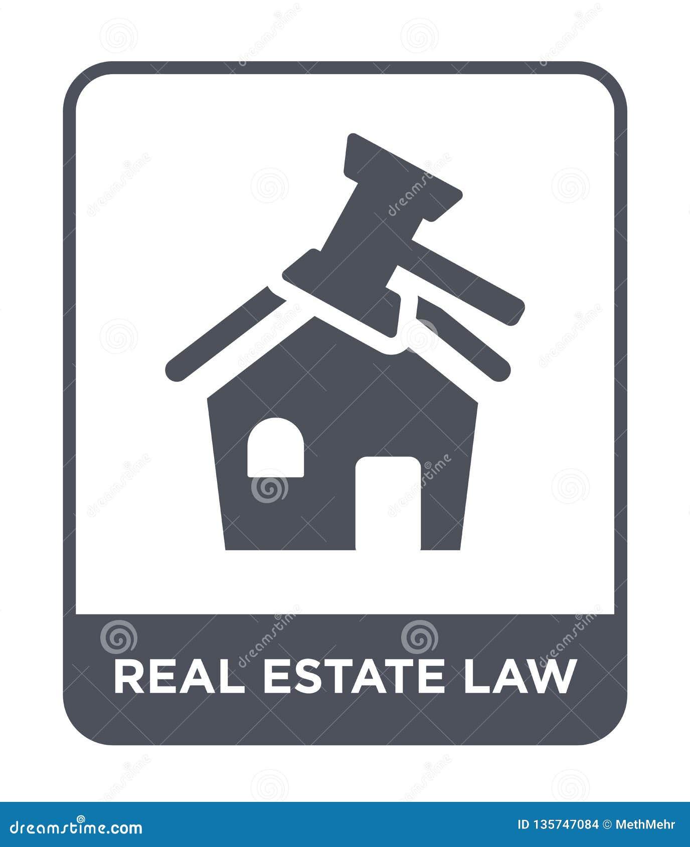 Nieruchomości prawa ikona w modnym projekta stylu nieruchomości prawa ikona odizolowywająca na białym tle nieruchomości prawa wek