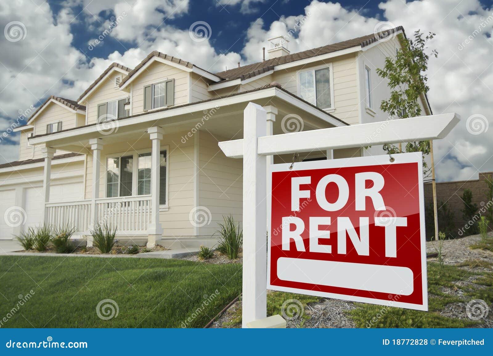 Nieruchomości przodu domu reala czynszu znak