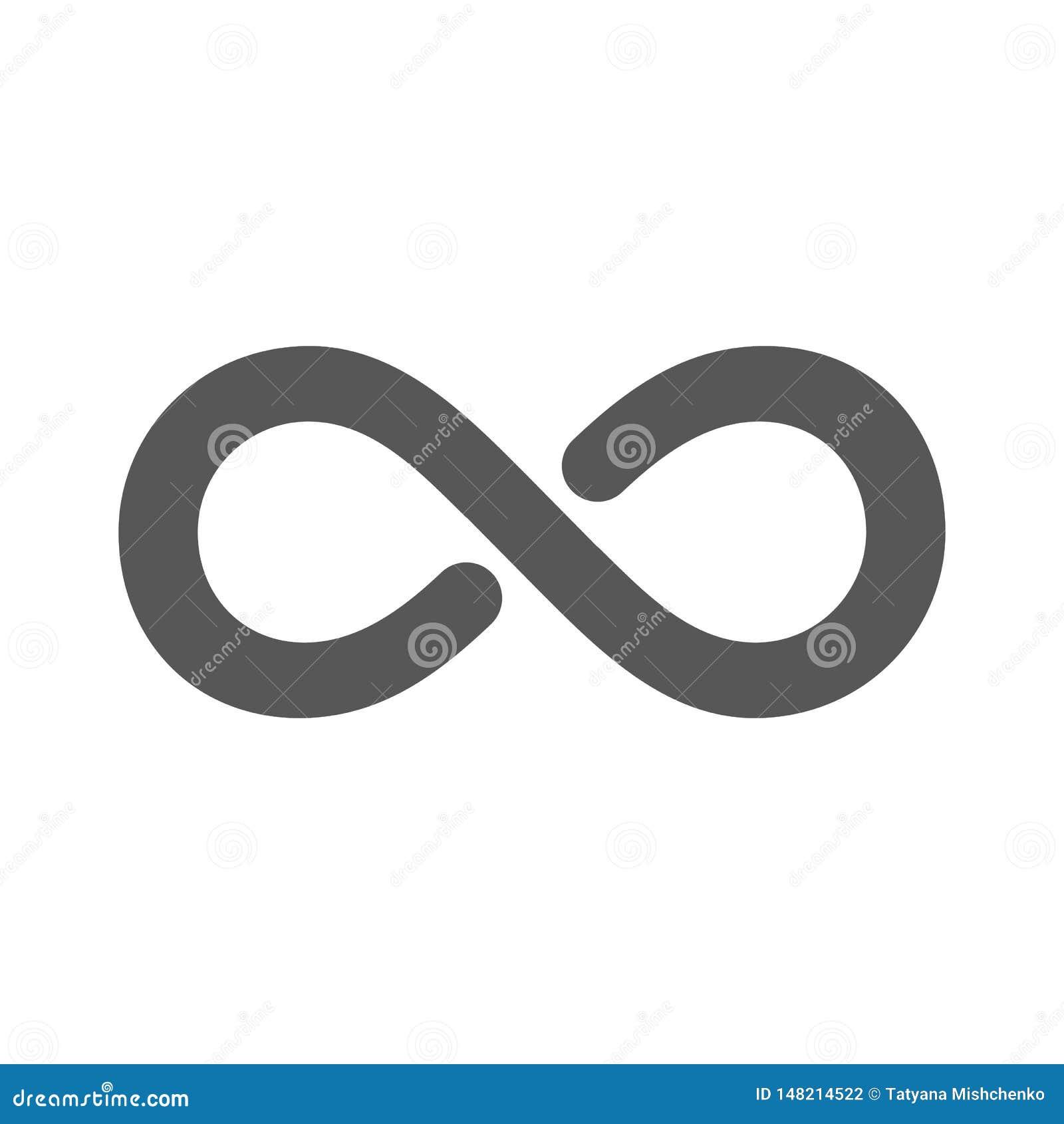 Niesko?czono?? symbol r?wnie? zwr?ci? corel ilustracji wektora Isolaited na białym tle