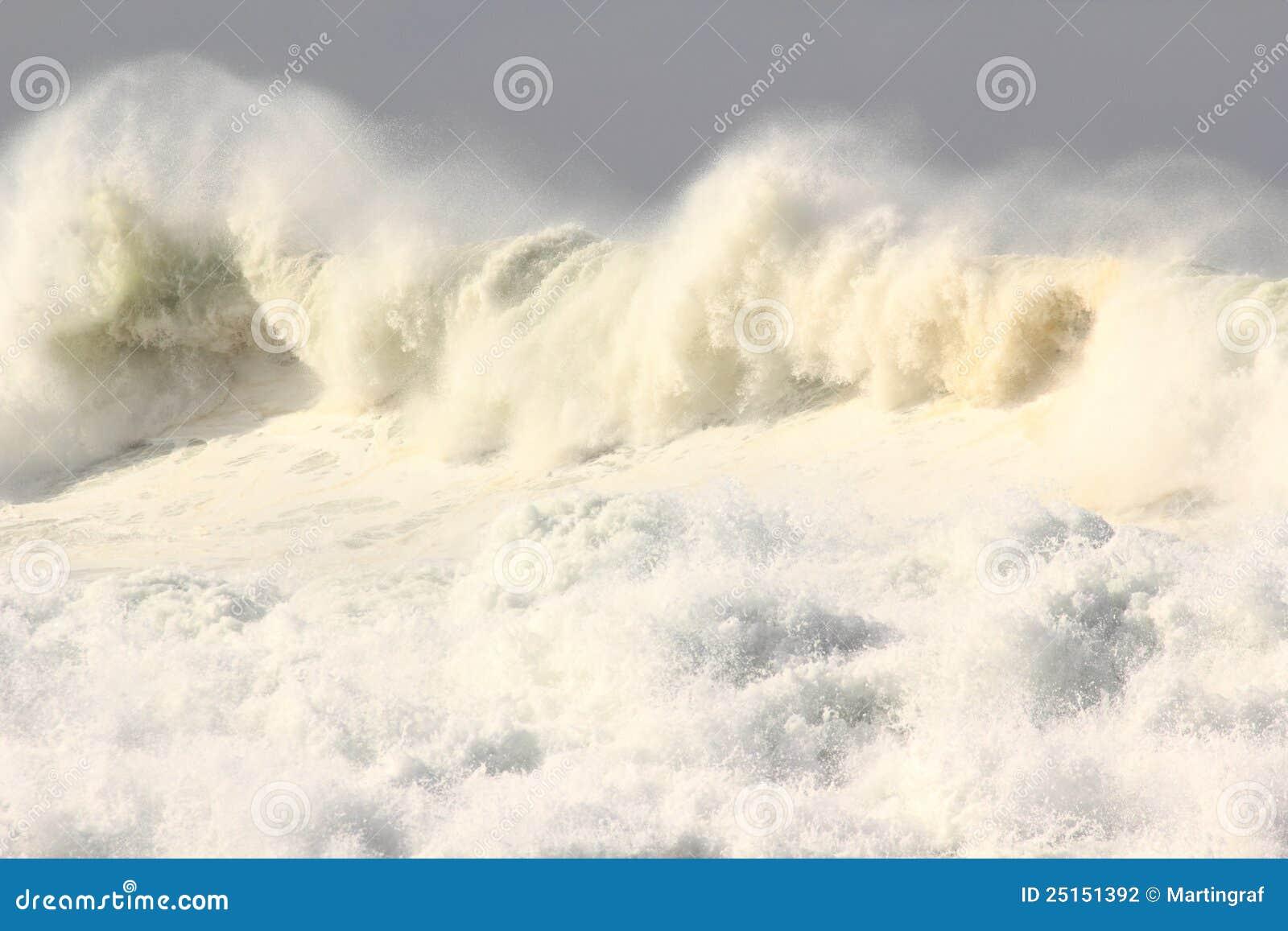 Niespokojne ocean fala