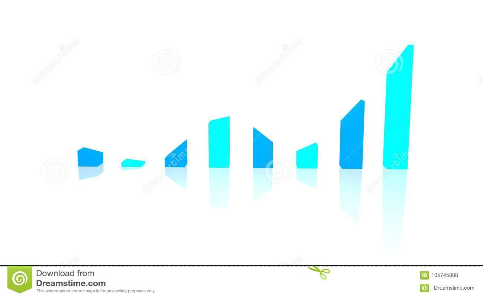 Niespokojny wykresu przedstawienie wzrasta i spadki, synkliny i szczyty niscy,