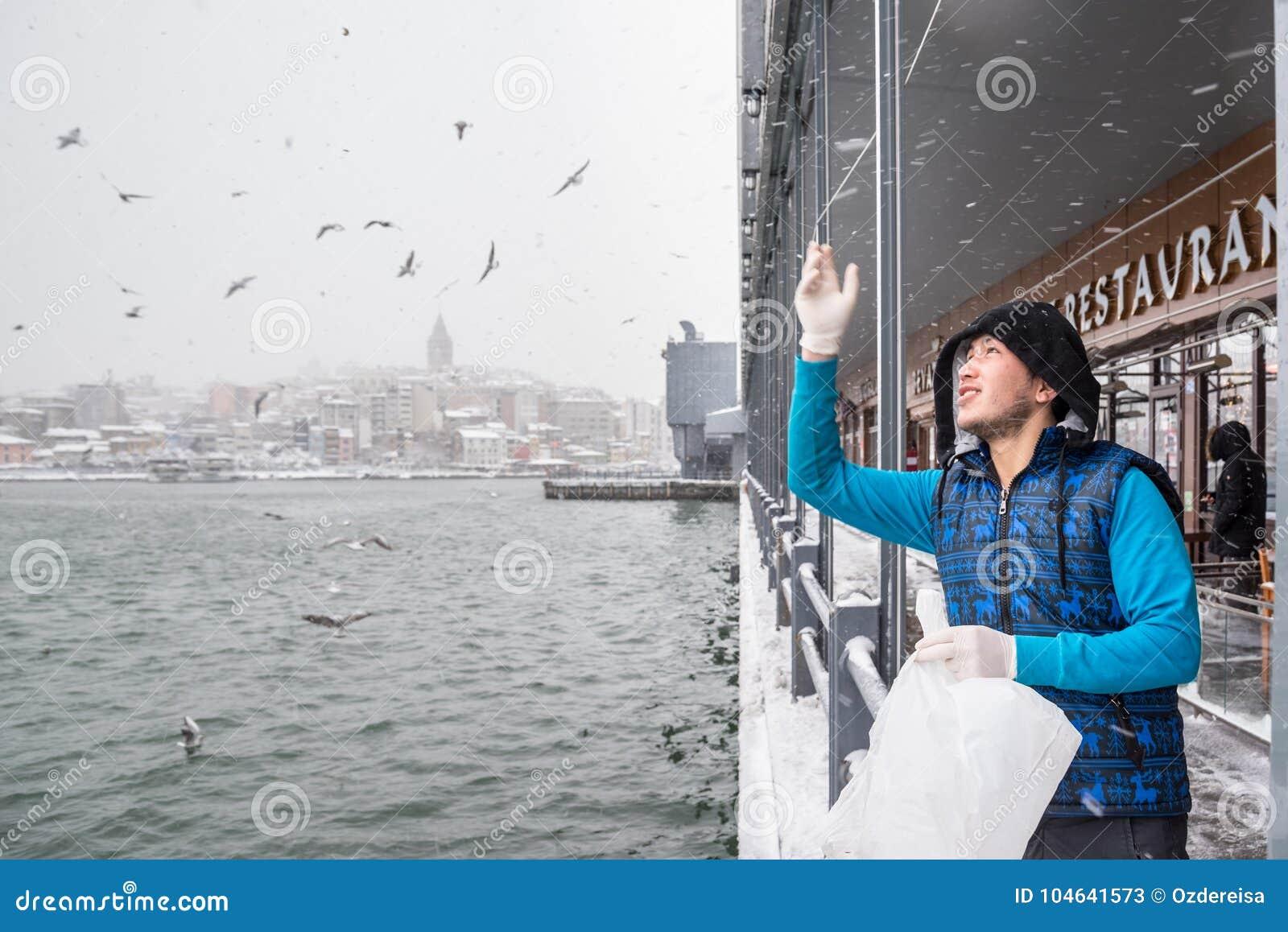 Download Niet Geïdentificeerde Mensen Voedende Zeemeeuwen Onder De Galatabrug Redactionele Stock Foto - Afbeelding bestaande uit straat, zeemeeuw: 104641573