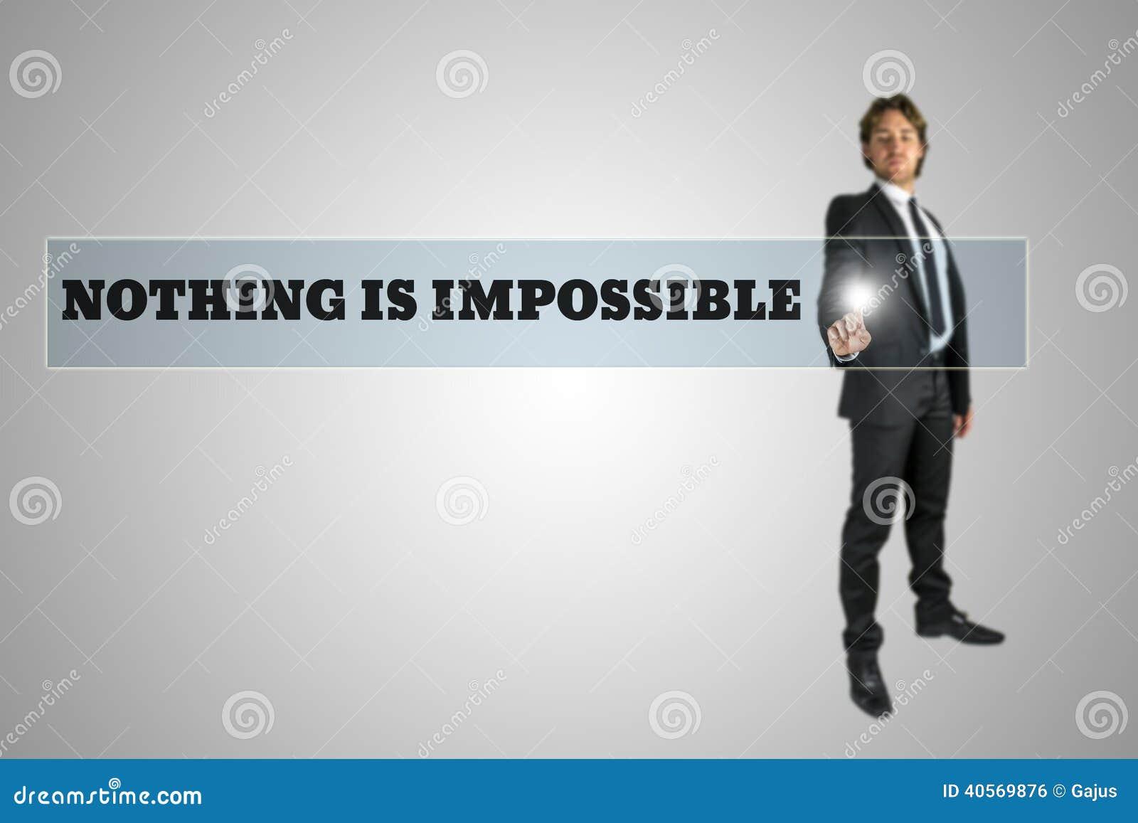 Niets is onmogelijk