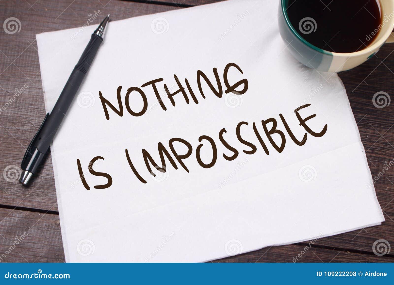 Niets is onmogelijk Motieventekst