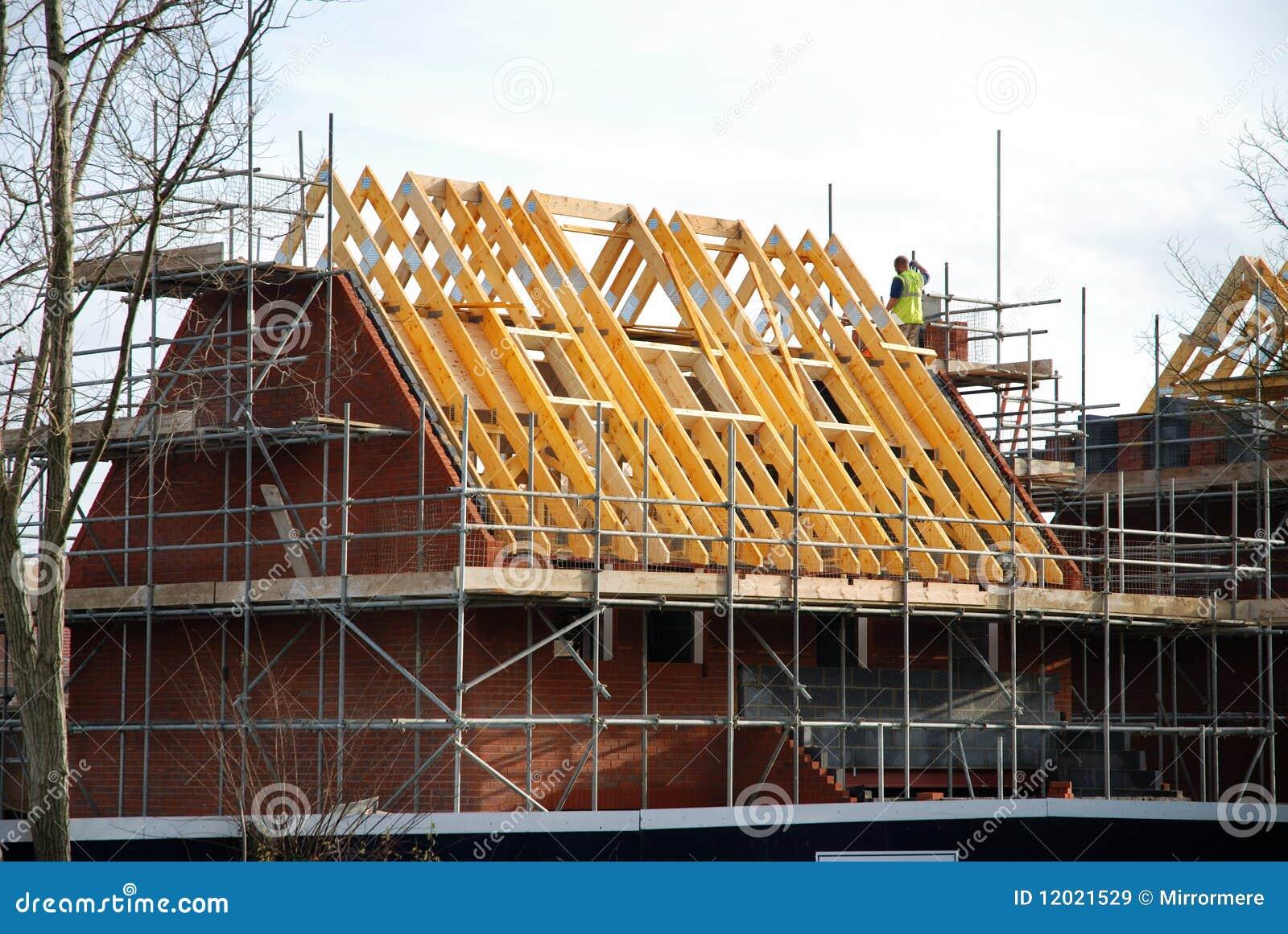Nieuw bouw huis stock afbeelding afbeelding bestaande uit hout 12021529 - Nieuw huis ...
