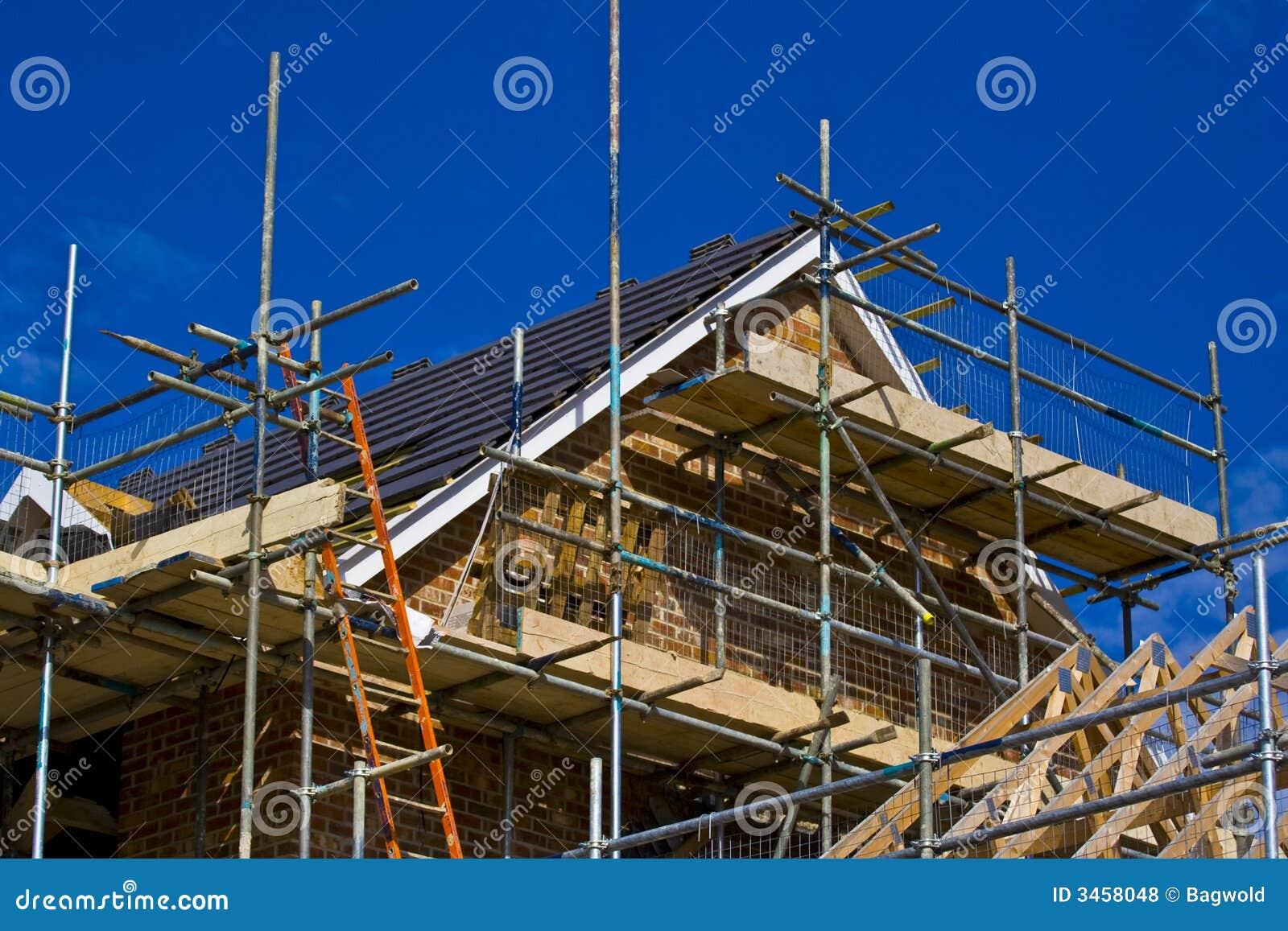Nieuw bouw huis stock foto afbeelding bestaande uit timmerhout 3458048 - Nieuw huis ...