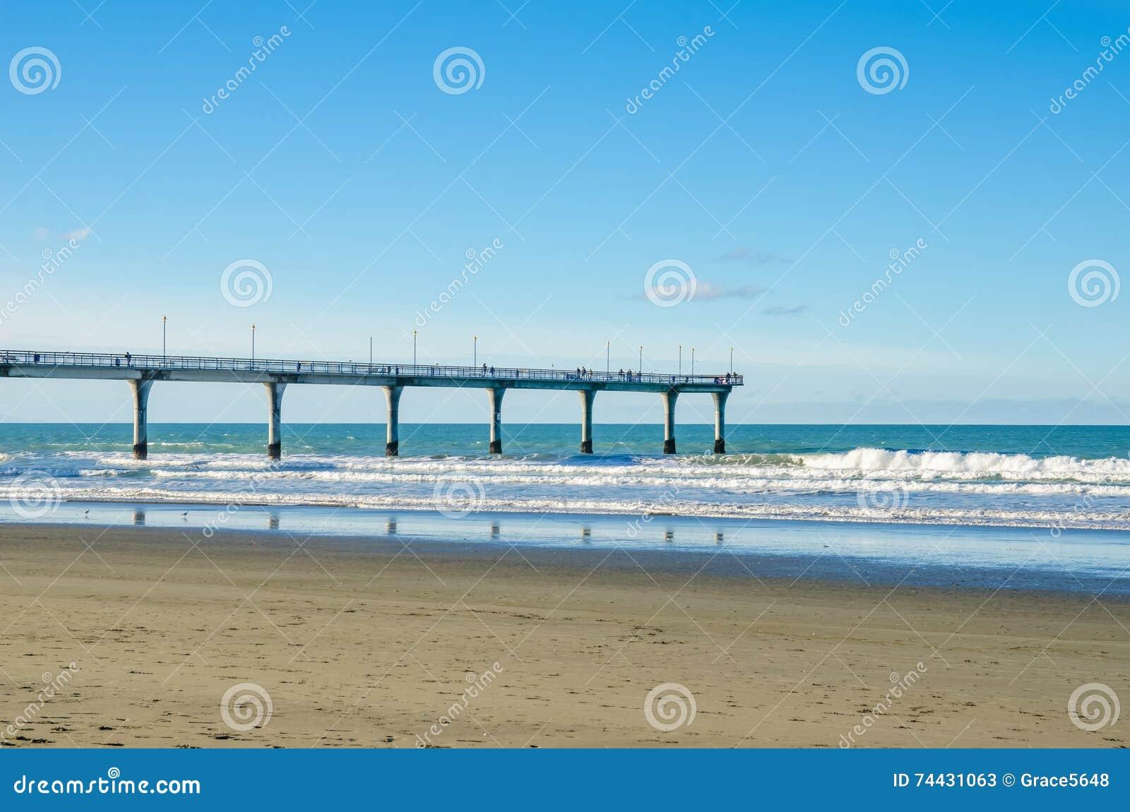 Nieuw Brighton Pier in Christchurch