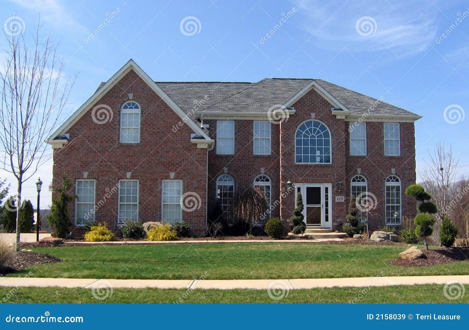 Nieuw huis stock afbeelding afbeelding bestaande uit leef 2158039 - Nieuw huis ...
