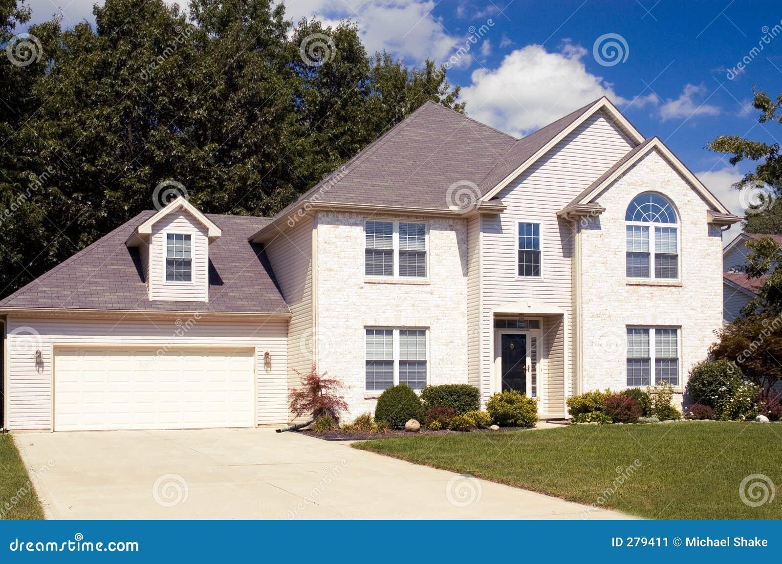 Nieuw huis stock afbeelding afbeelding 279411 - Nieuw huis binneninrichting ...