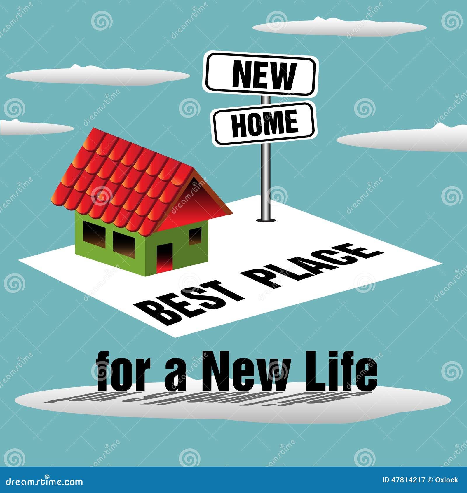 Nieuw huis vector illustratie afbeelding bestaande uit hypotheek 47814217 - Nieuw huis ...