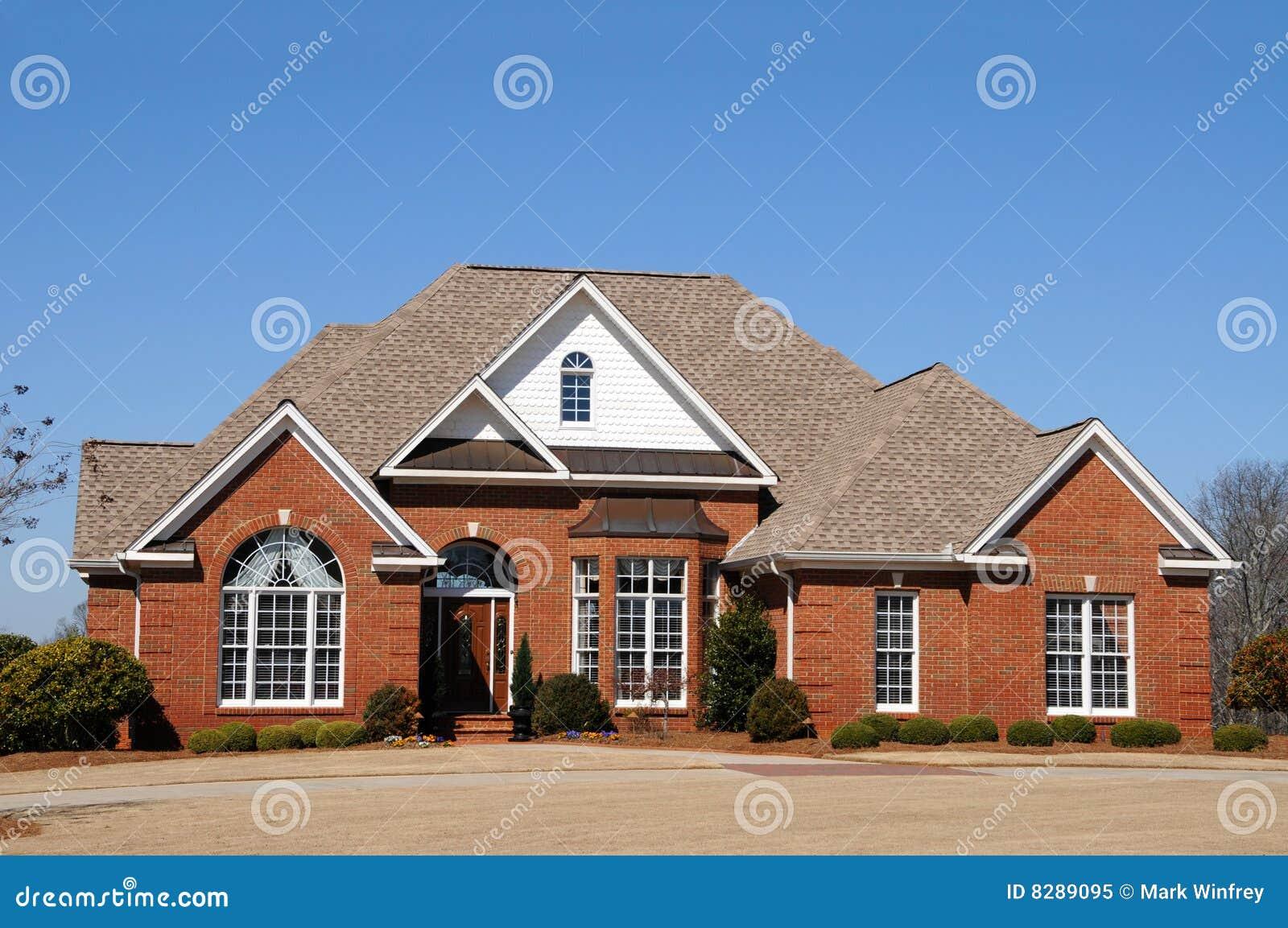 Nieuw huis stock afbeelding afbeelding bestaande uit echt 8289095 - Nieuw huis binneninrichting ...