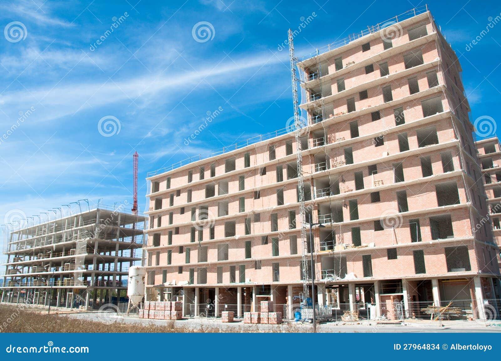 Nieuw huis in aanbouw, Spanje
