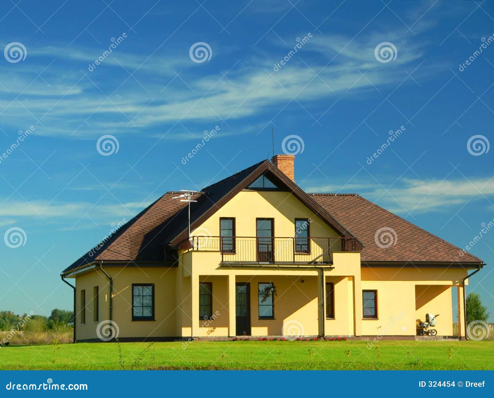 Nieuw huis landschap stock foto afbeelding bestaande uit mooi 324454 - Mooi huis ...