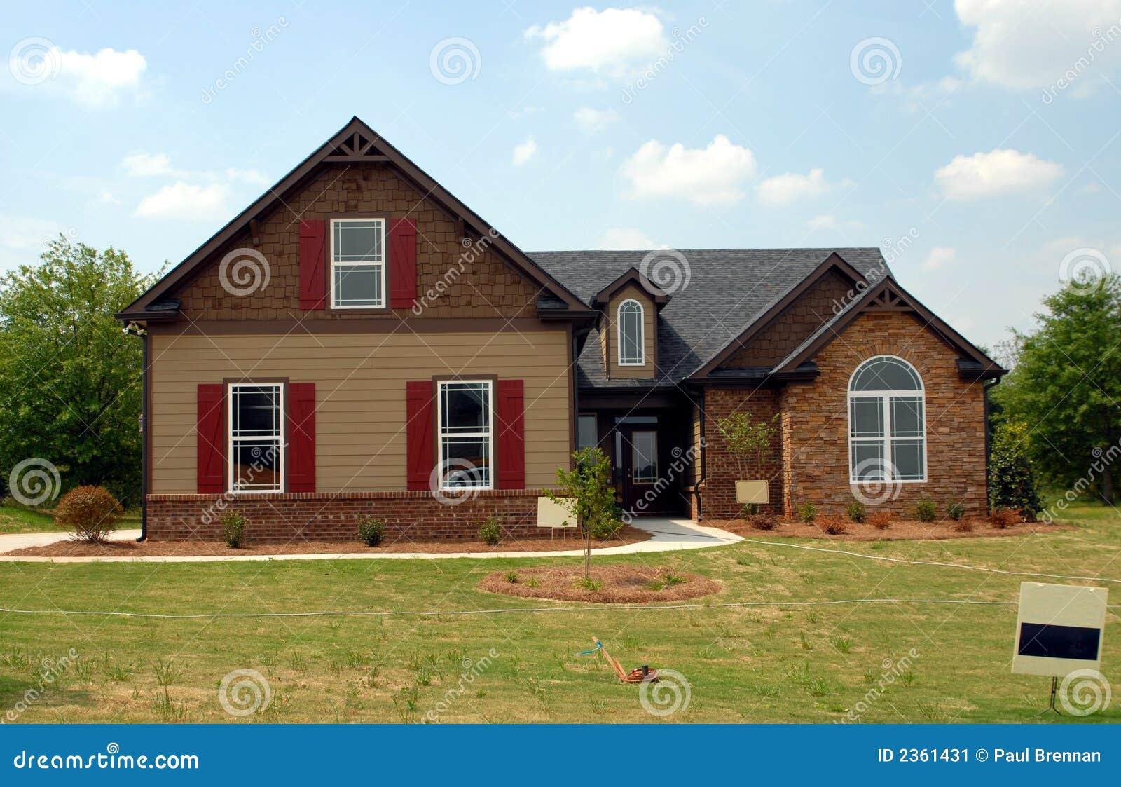 Nieuw huis voor verkoop stock afbeelding afbeelding 2361431 - Huis verkoop ...