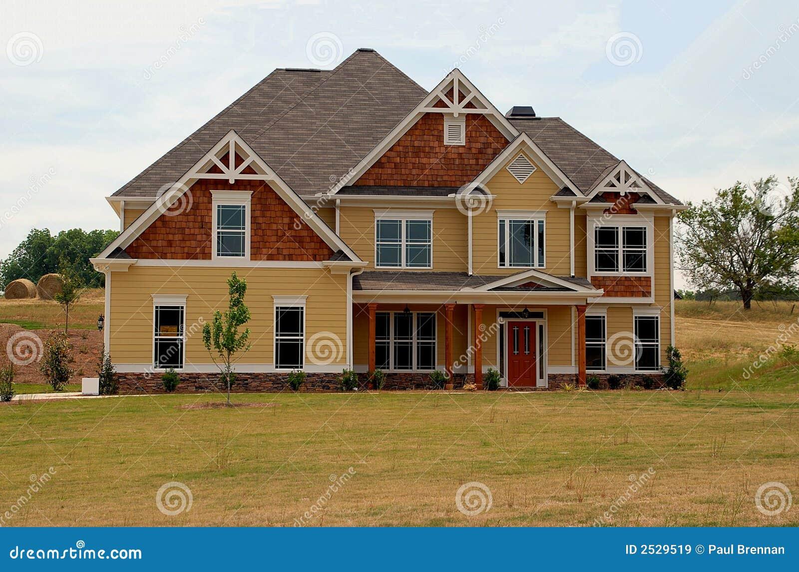Nieuw huis voor verkoop stock afbeelding afbeelding for Huis aantrekkelijk maken voor verkoop