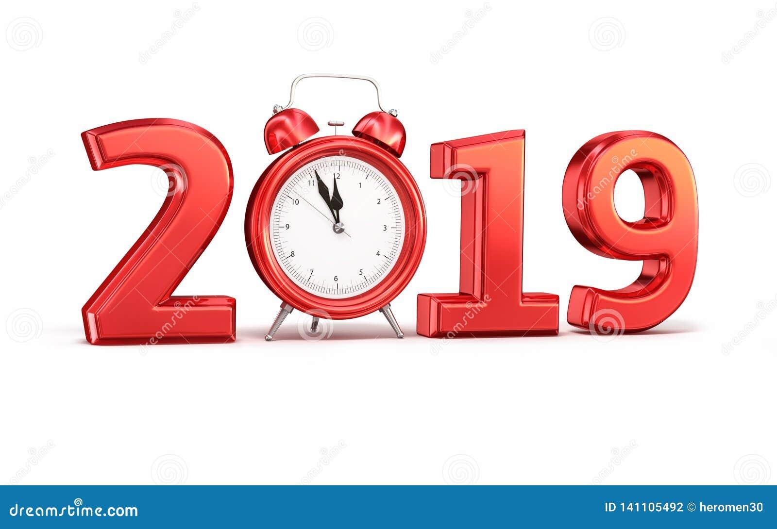 Nieuw jaar 2019 en wekker