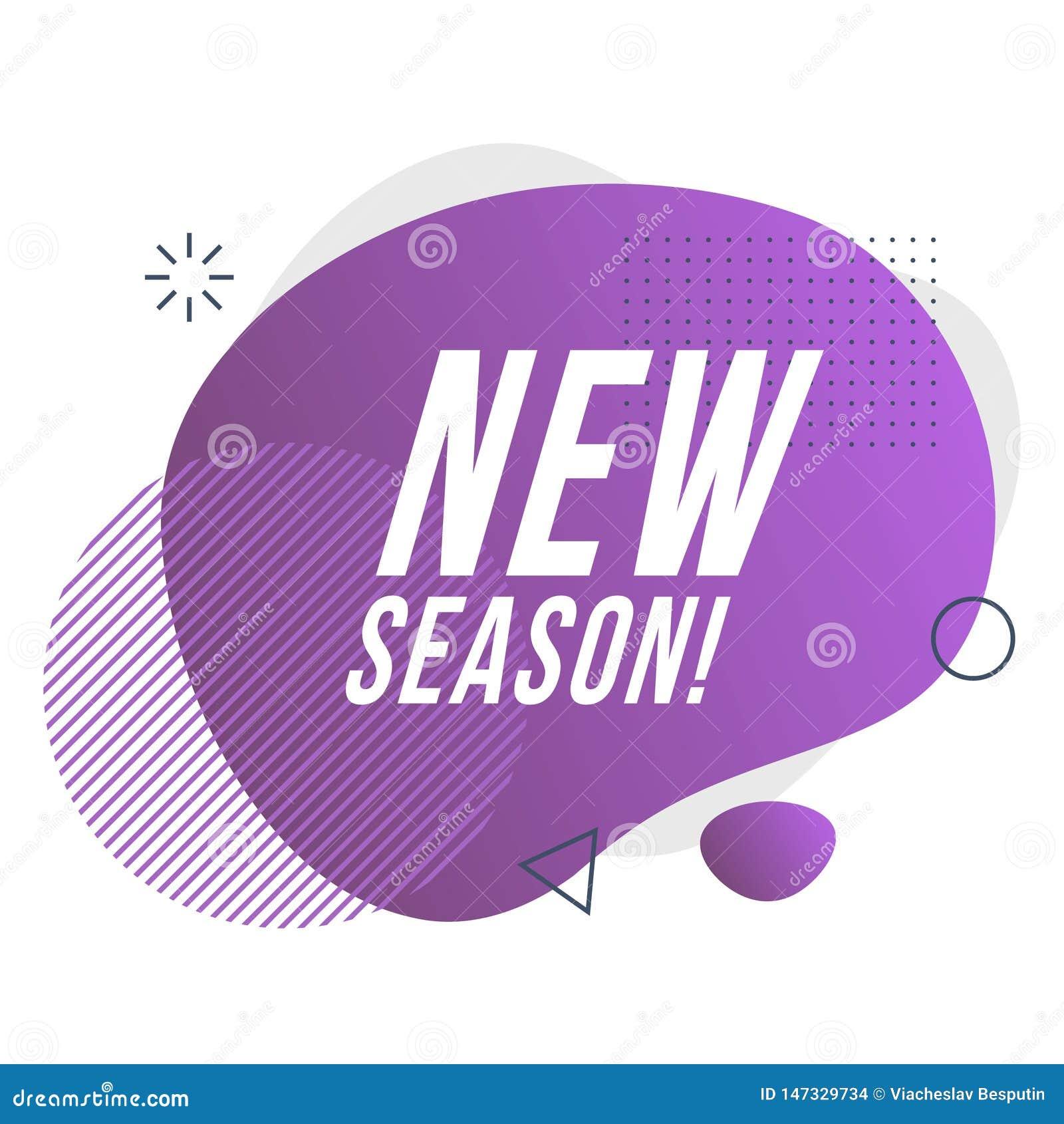 Nieuw seizoenpictogram Vector illustratie