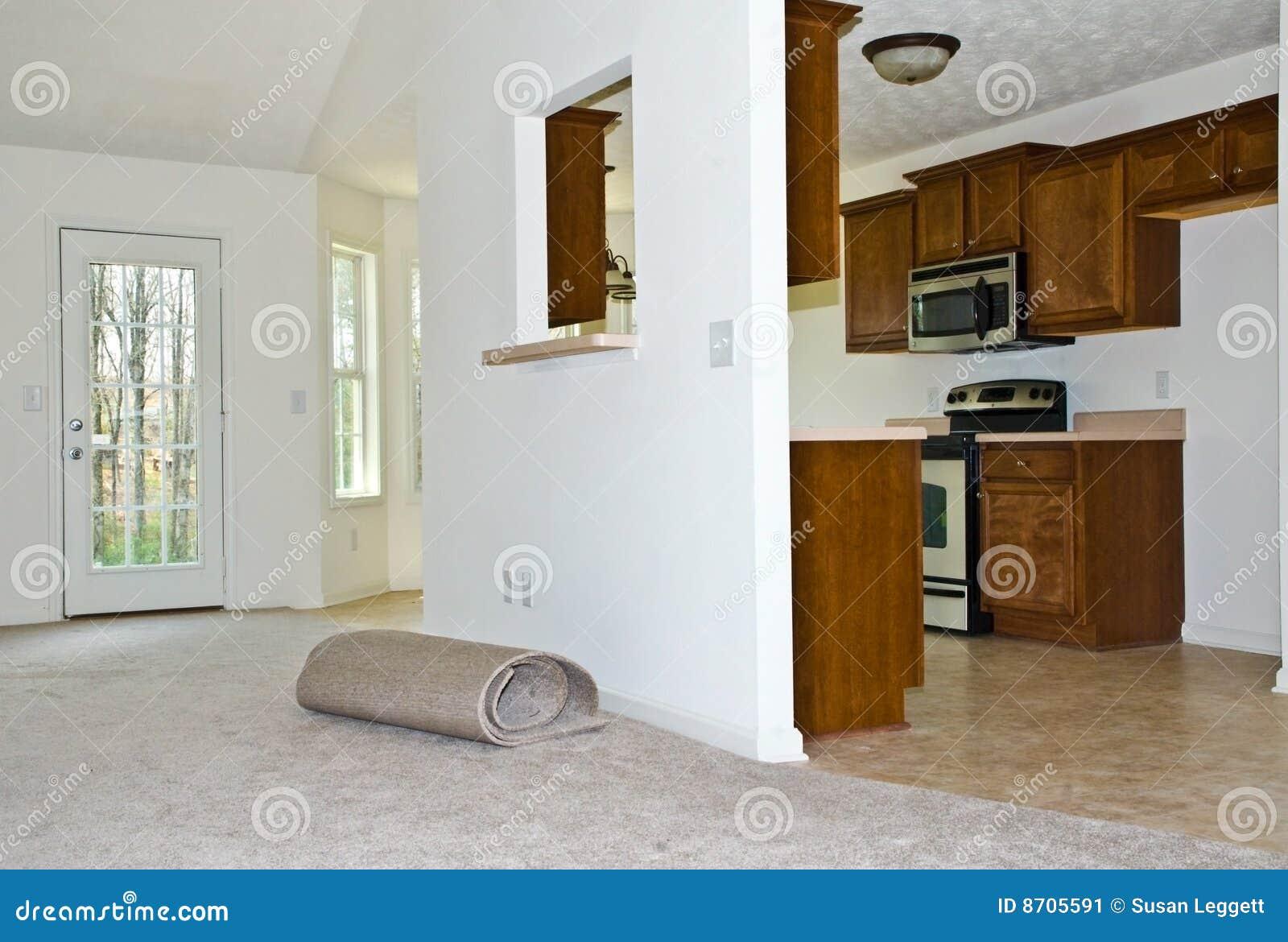 Tapijt Voor Keuken : Nieuw tapijt geremodelleerde keuken stock afbeelding afbeelding