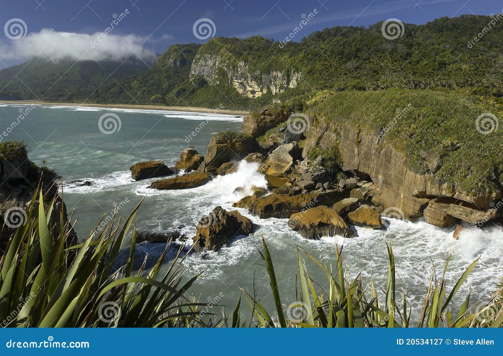 Nieuw Zeeland - Kustlijn - Zuidelijk Eiland