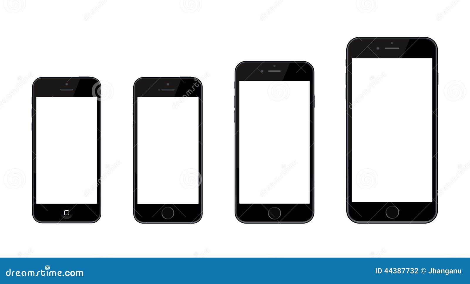 Nieuwe Apple-iPhone 6 en iPhone 6 plus en iPhone 5