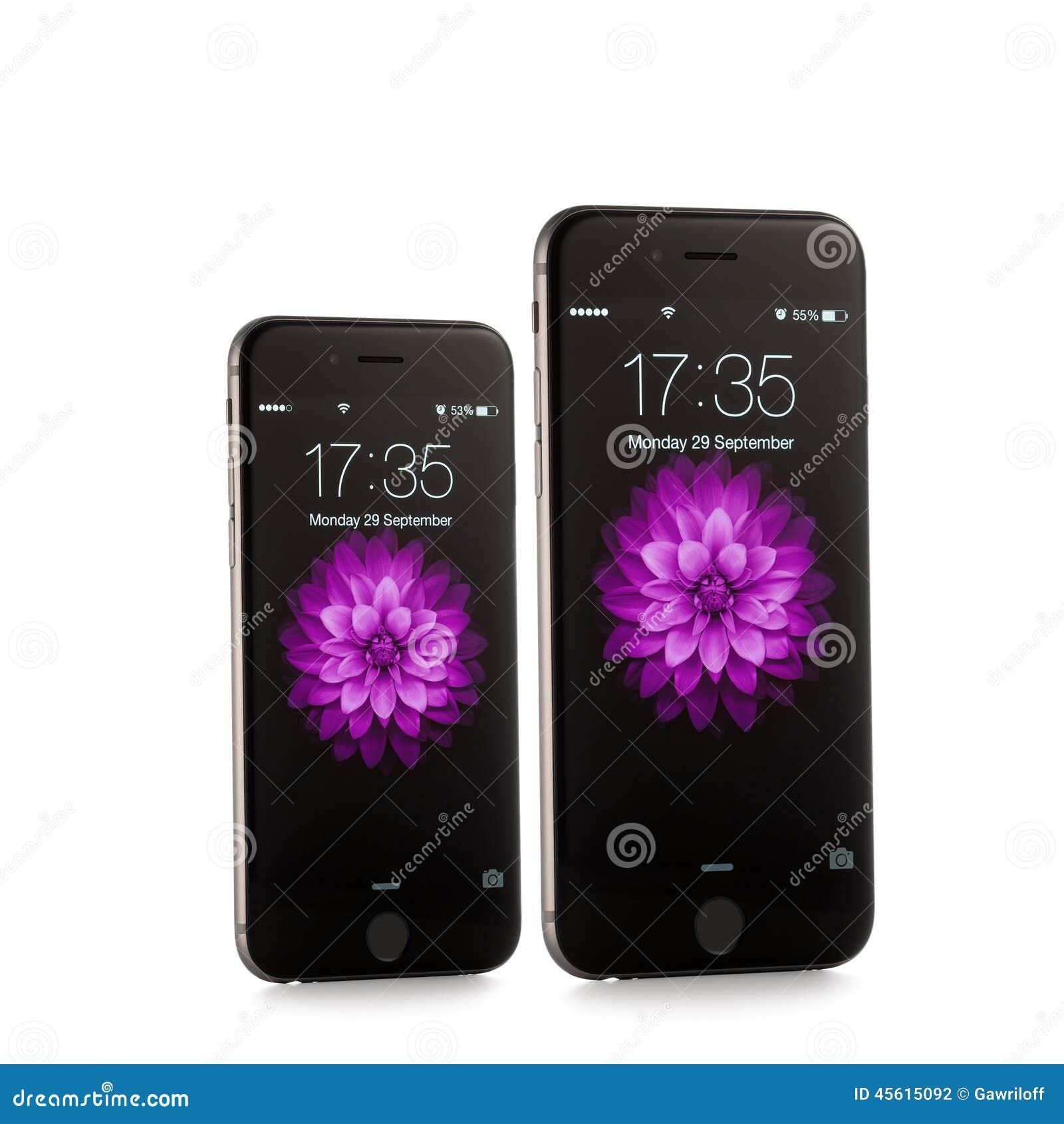 Nieuwe Apple-iPhone 6 en iPhone 6 plus Front Side