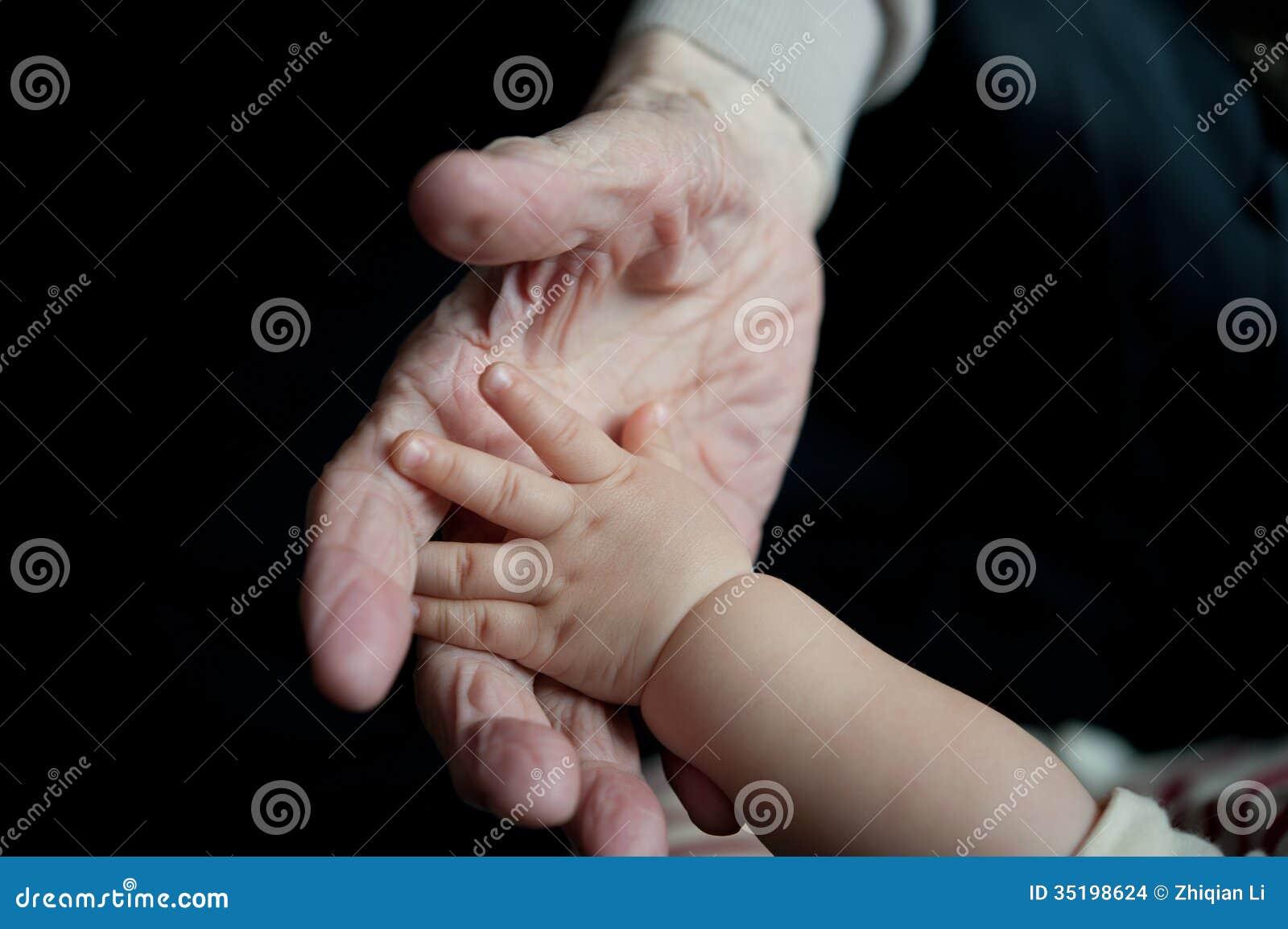 Nieuwe en oude handen