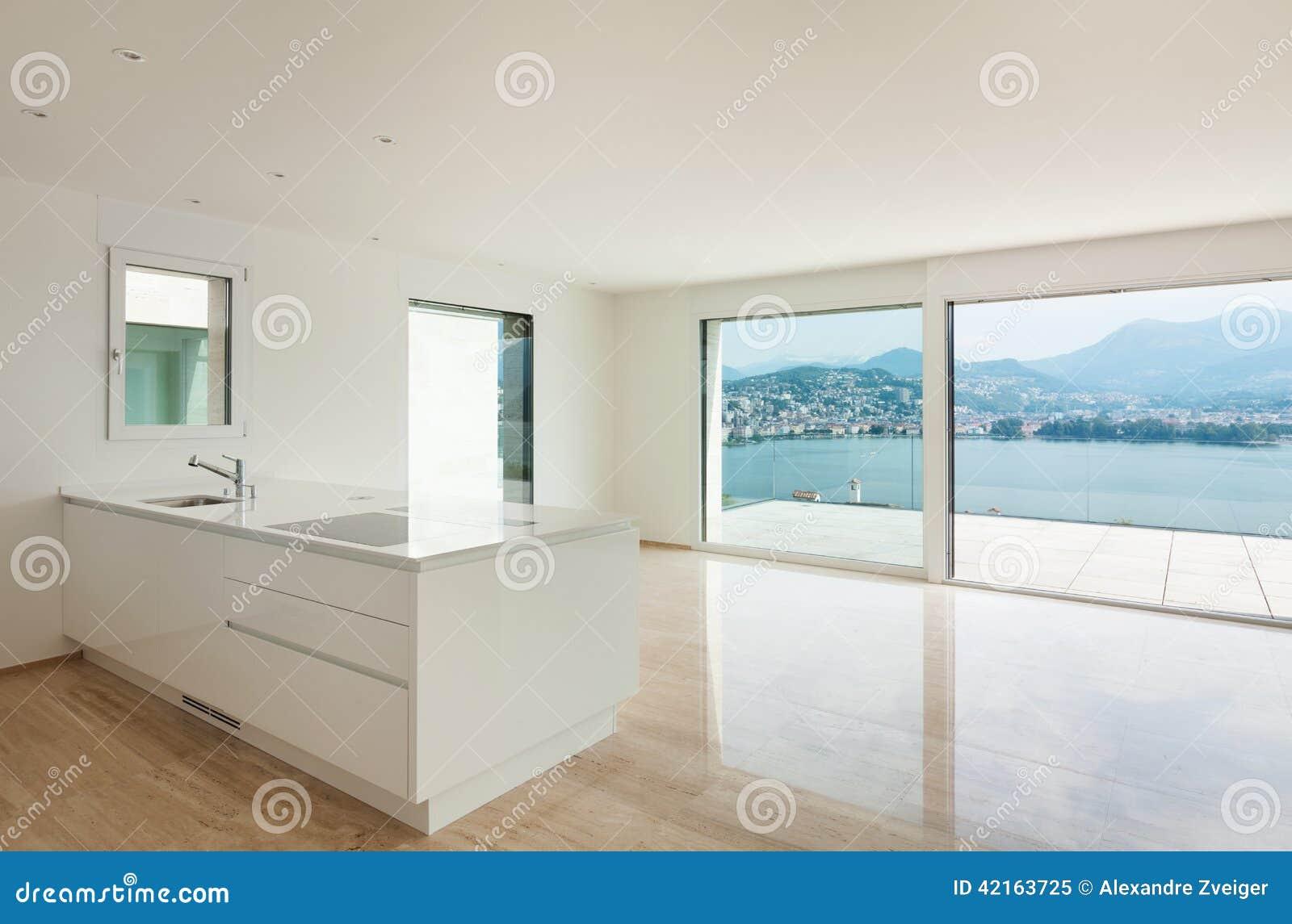 Nieuwe flat, moderne keuken