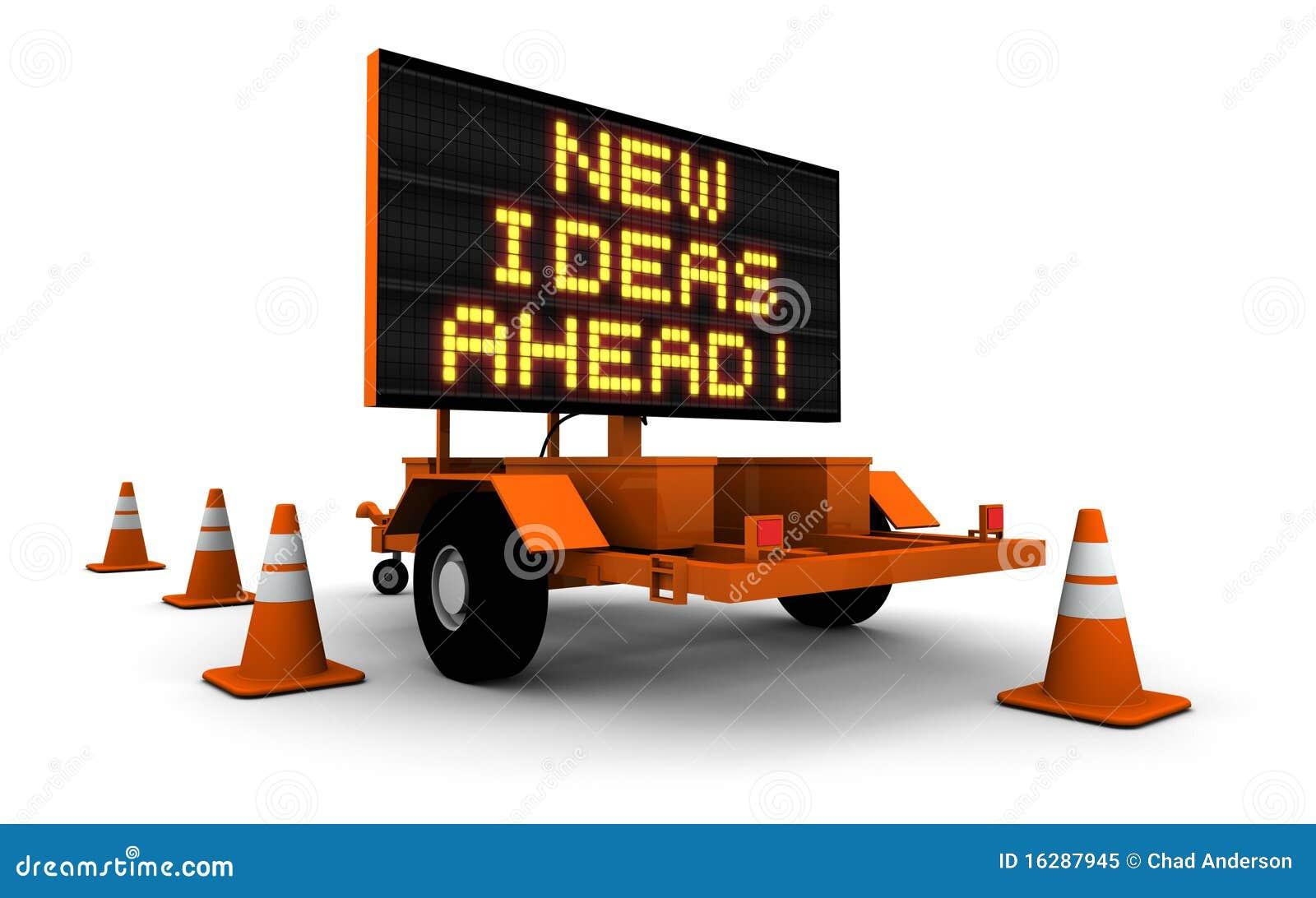 Nieuwe idee n vooruit het teken van de aanleg van wegen stock illustratie afbeelding 16287945 - Aanleg van groenvoorzieningen idee ...