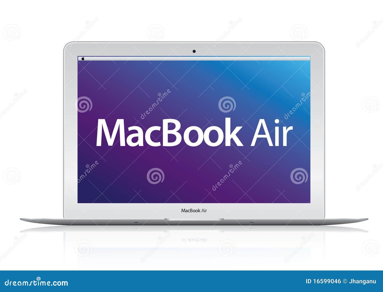 Nieuwe laptop van het Boek van Apple Mac van de Lucht (2010) computer