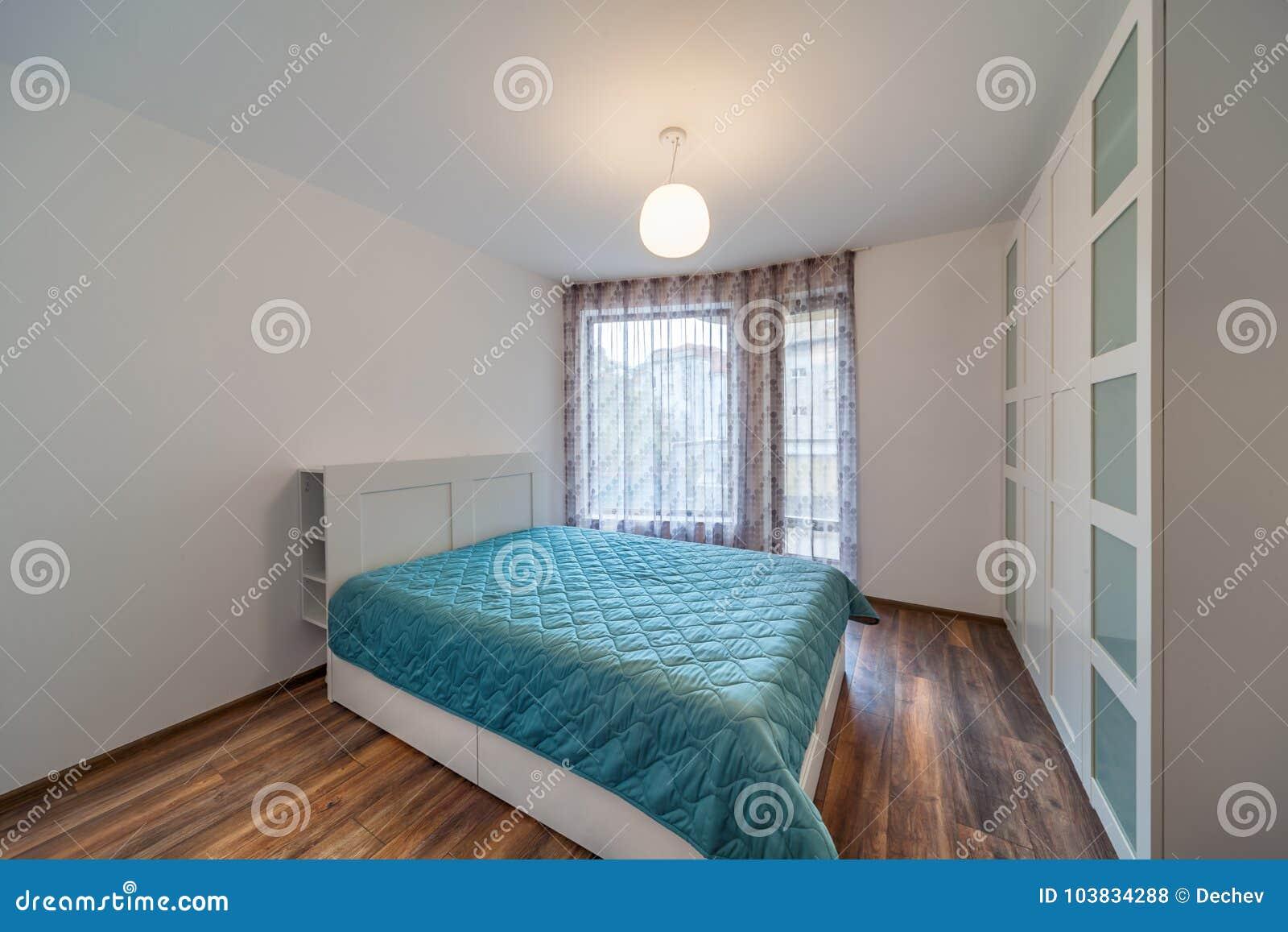 Nieuwe moderne slaapkamer nieuw huis binnenlandse fotografie houten