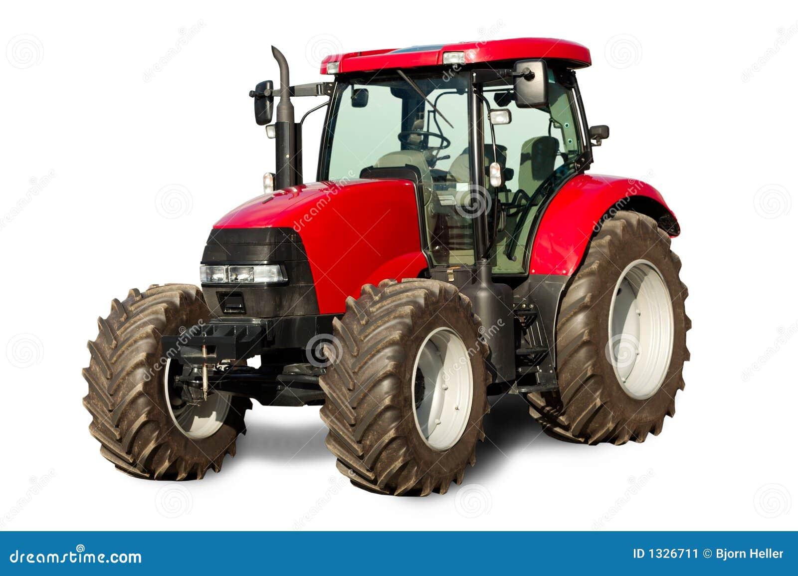 Nieuwe rode tractor