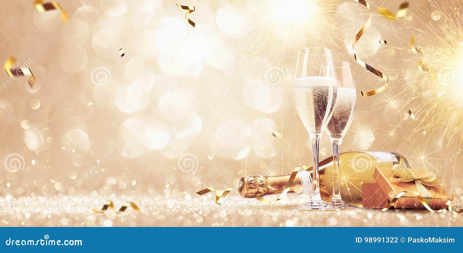 Nieuwjaren van de Achtergrond vooravondviering