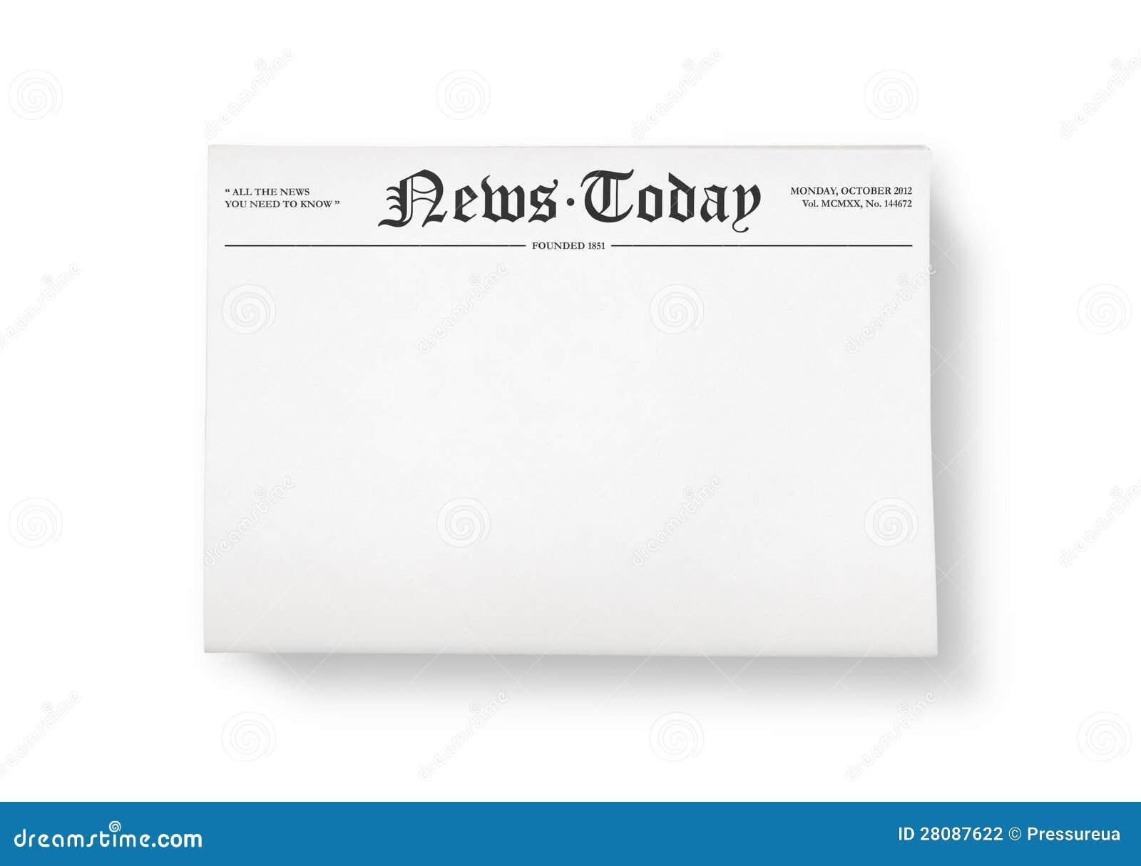 Nieuws vandaag met lege ruimte