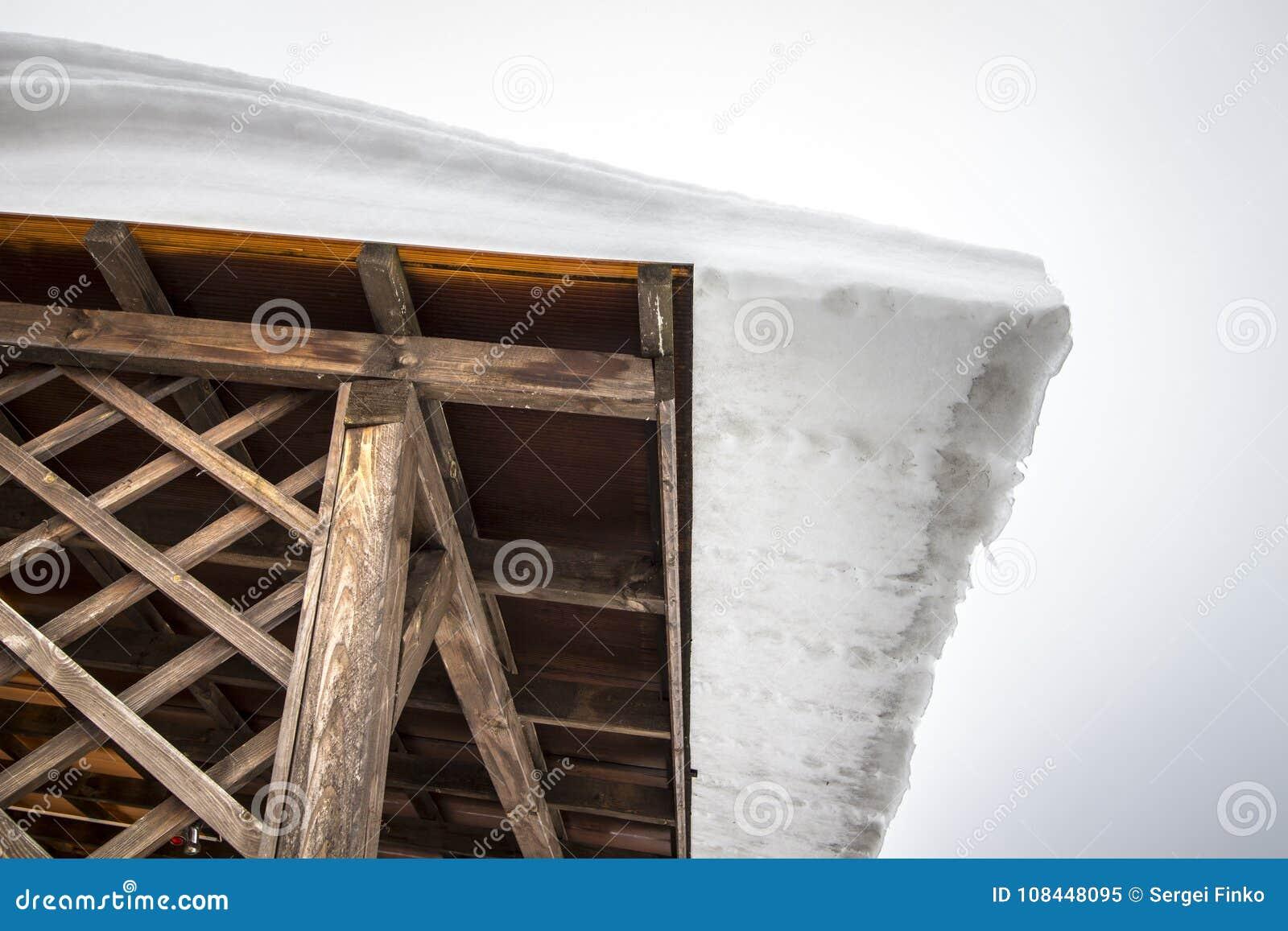 Nieve En La Azotea Imagen De Archivo Imagen De Problema